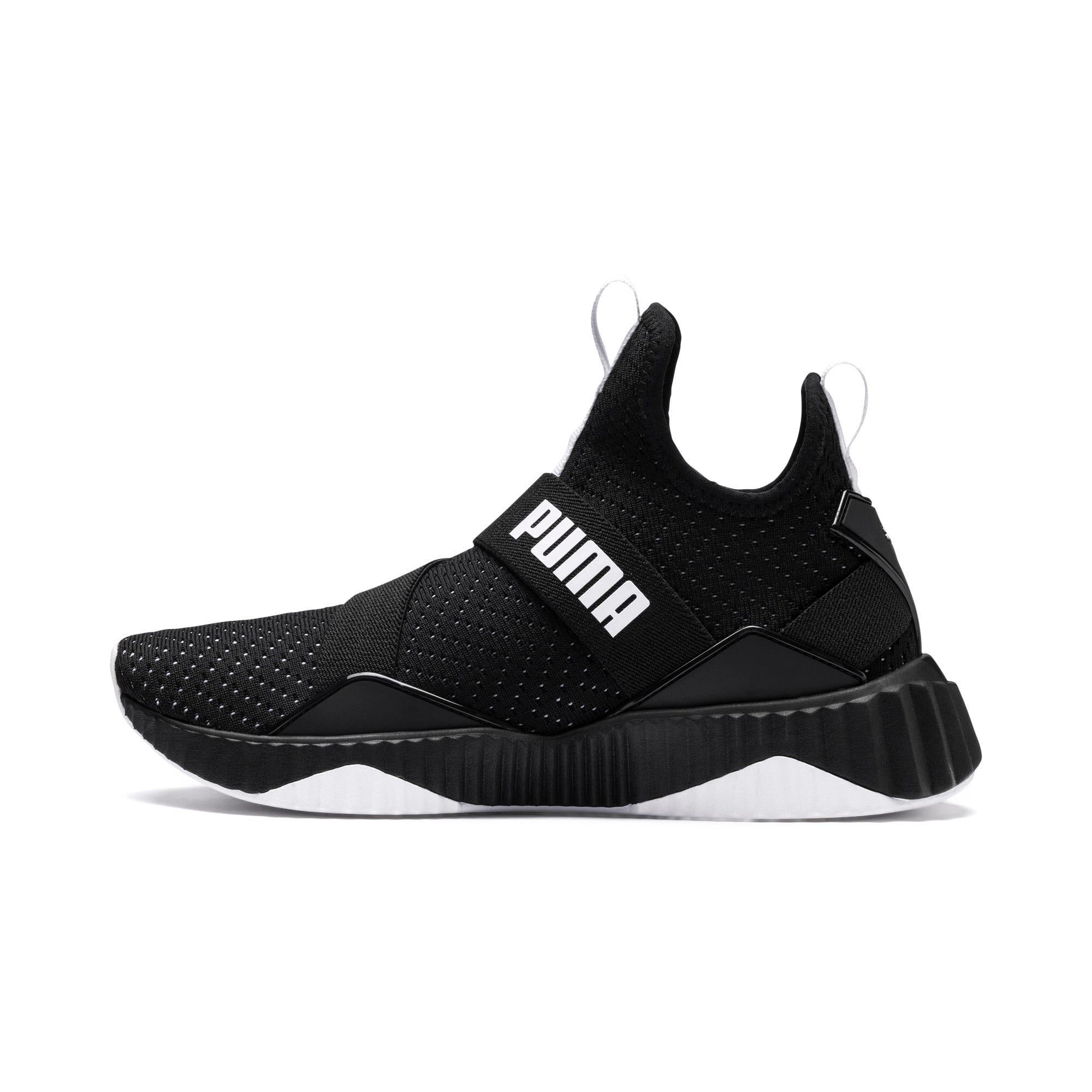 Thumbnail 1 of Defy Mid Core Women's Training Shoes, Puma Black-Puma White, medium
