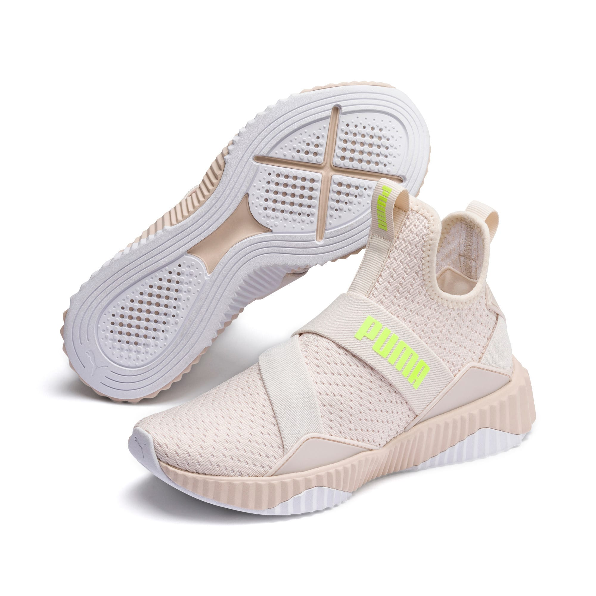 Thumbnail 3 of Defy Mid Core Women's Trainers, Pastel Parchment-Puma White, medium-IND