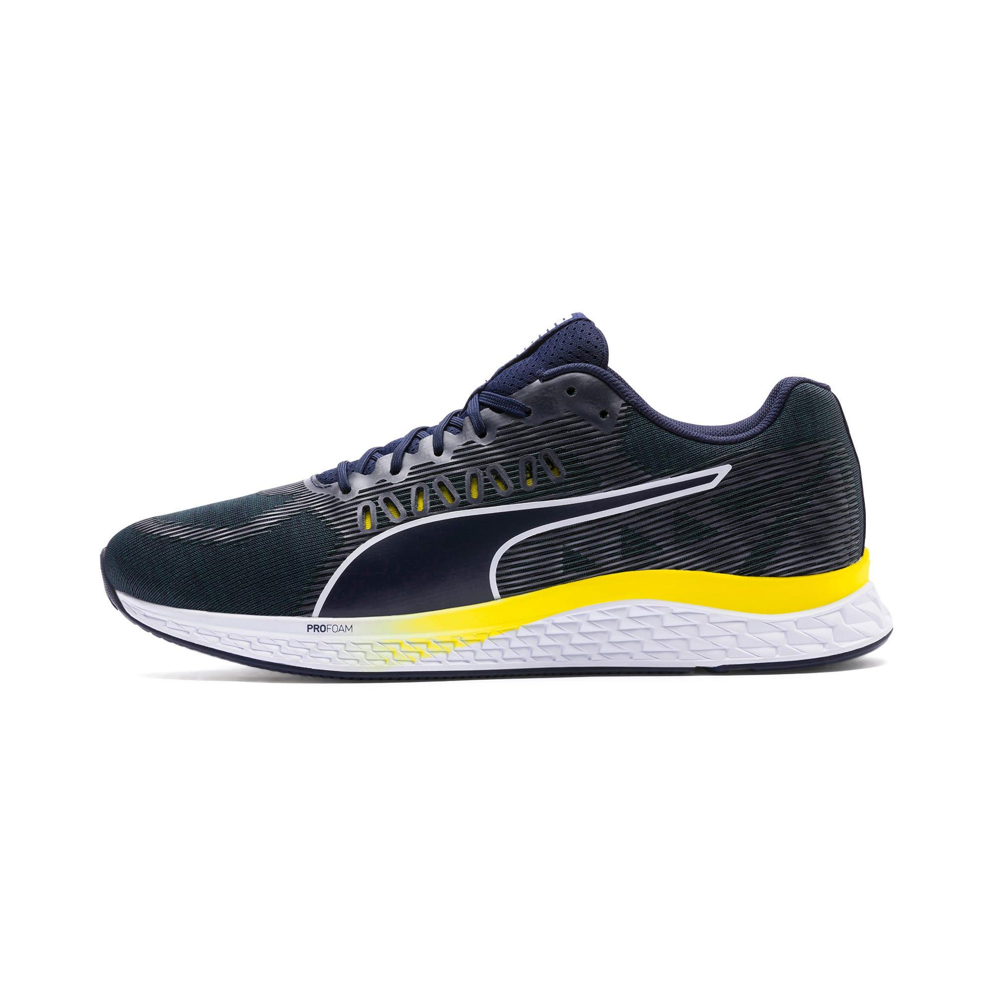 Thumbnail 1 of SPEED SUTAMINA Running Shoes, Peacoat-Blazing Yellow-White, medium