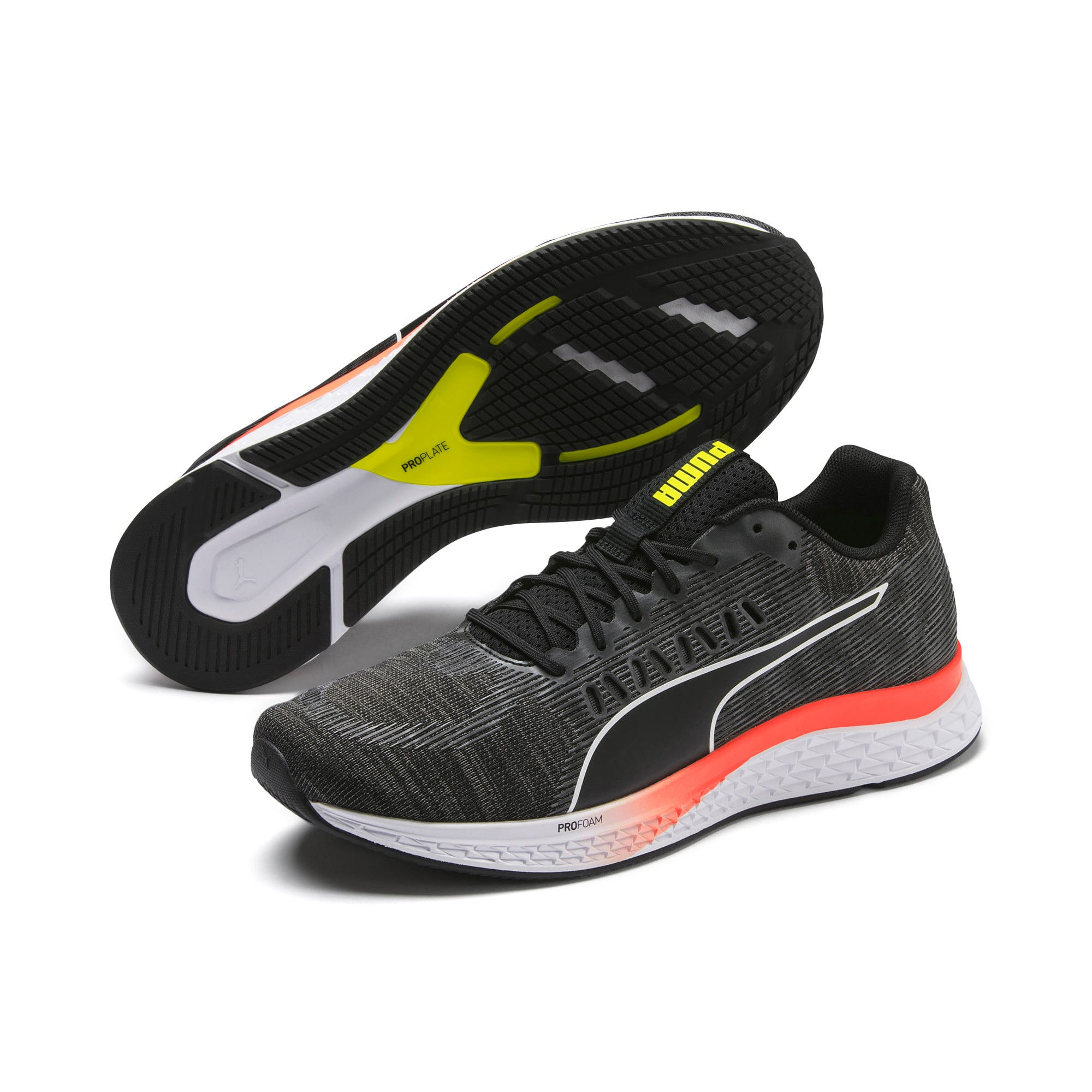 Thumbnail 3 of SPEED SUTAMINA Running Shoes, Black-CASTLEROCK-Yellow-Red, medium