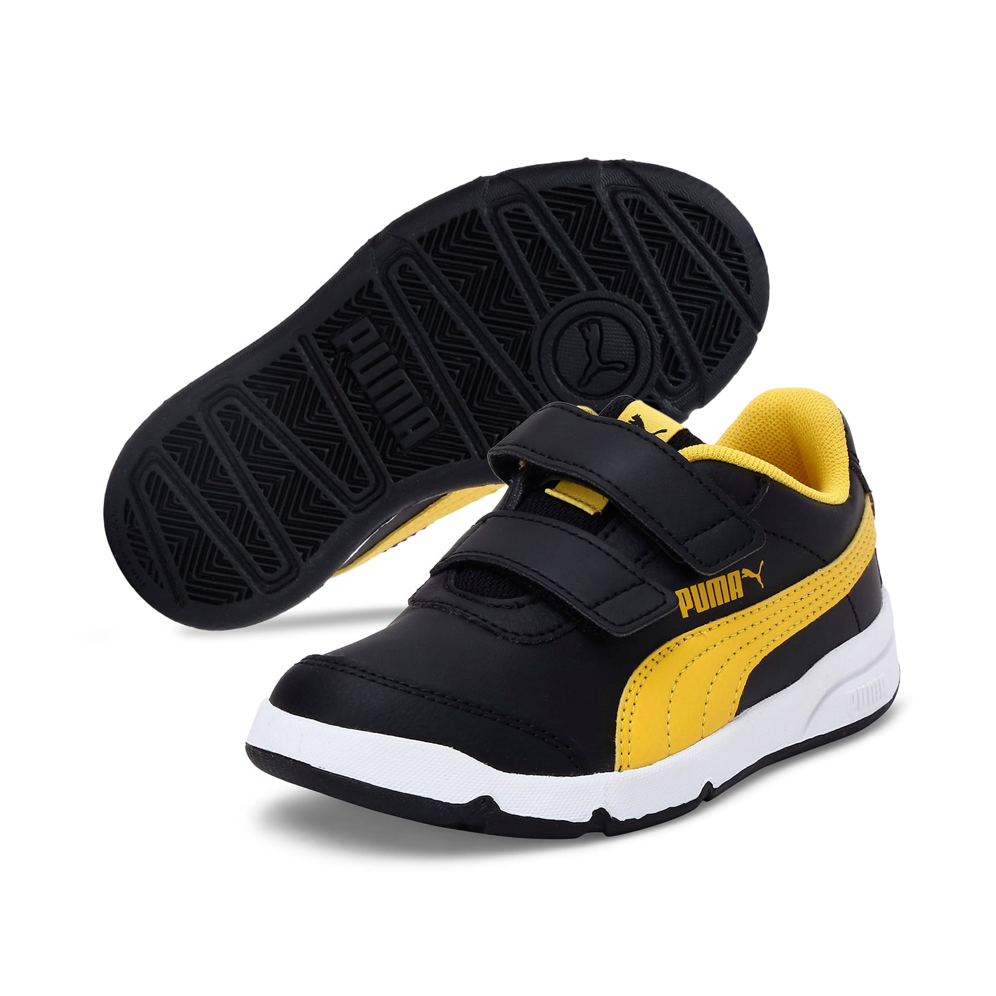 Thumbnail 2 of Stepfleex 2 SL VE V Kids' Trainers, Puma Black-Sulphur-White, medium-IND