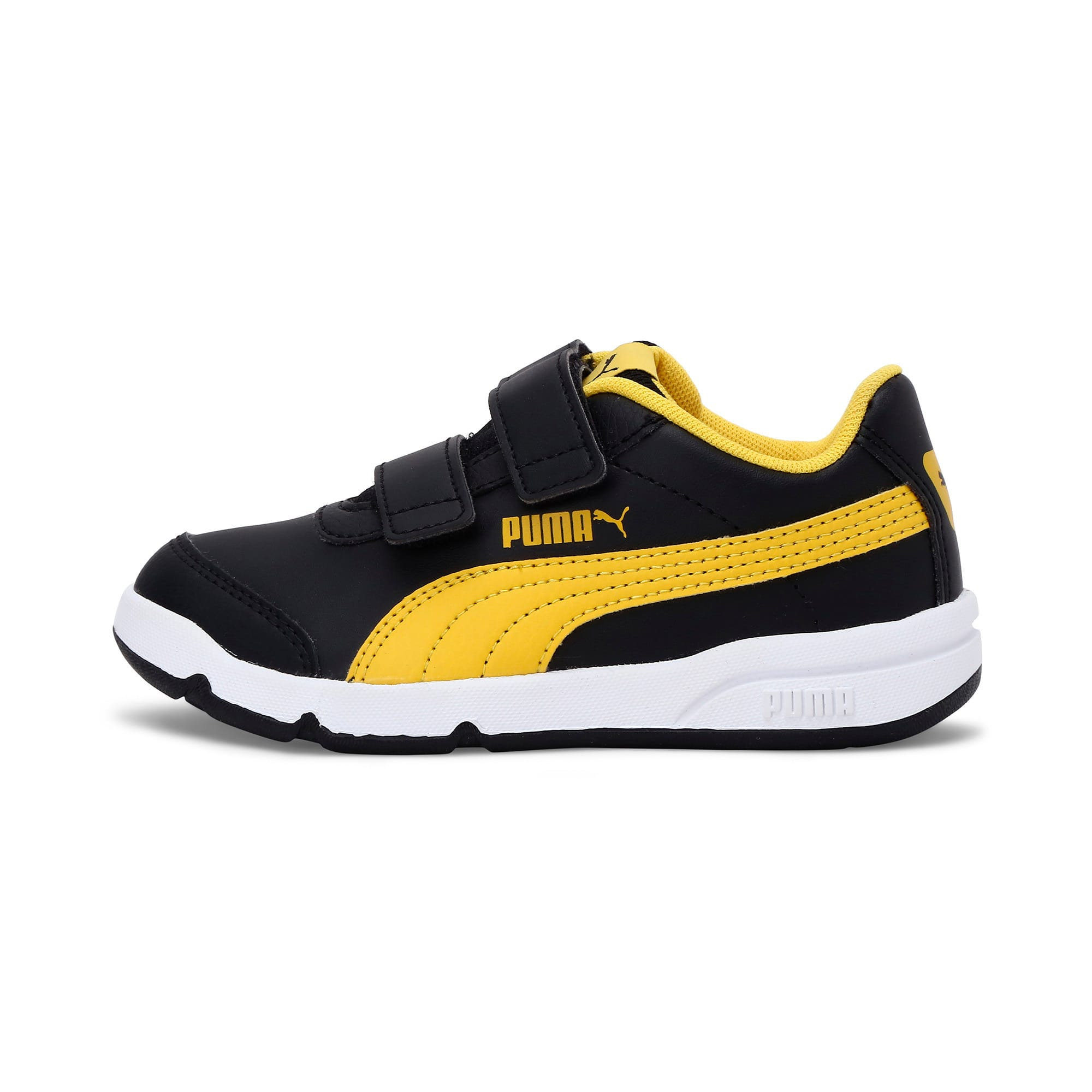Thumbnail 1 of Stepfleex 2 SL VE V Kids' Trainers, Puma Black-Sulphur-White, medium-IND