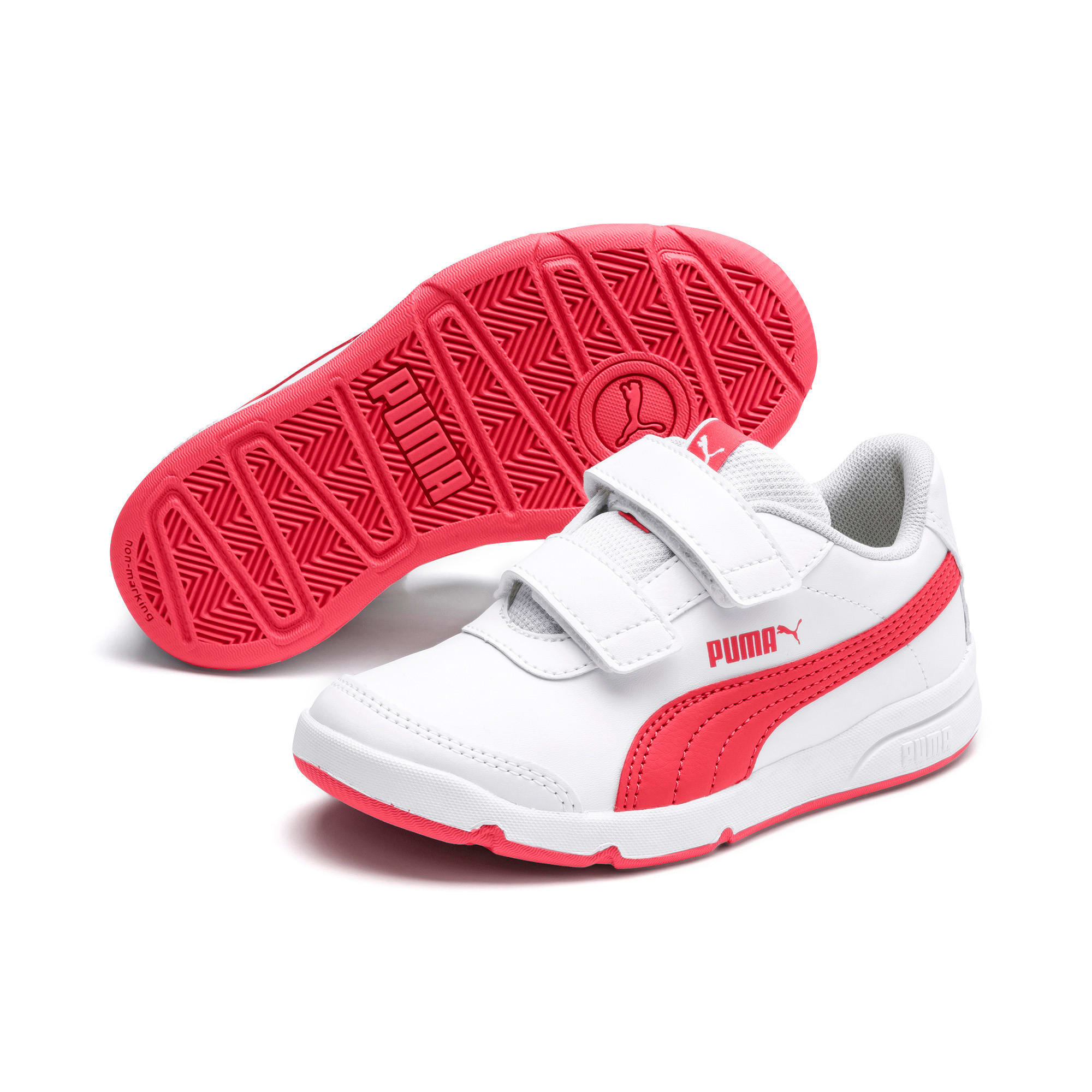 Stepfleex 2 SL VE V Kids' Trainers, White-Calypso Coral-G Gray, large