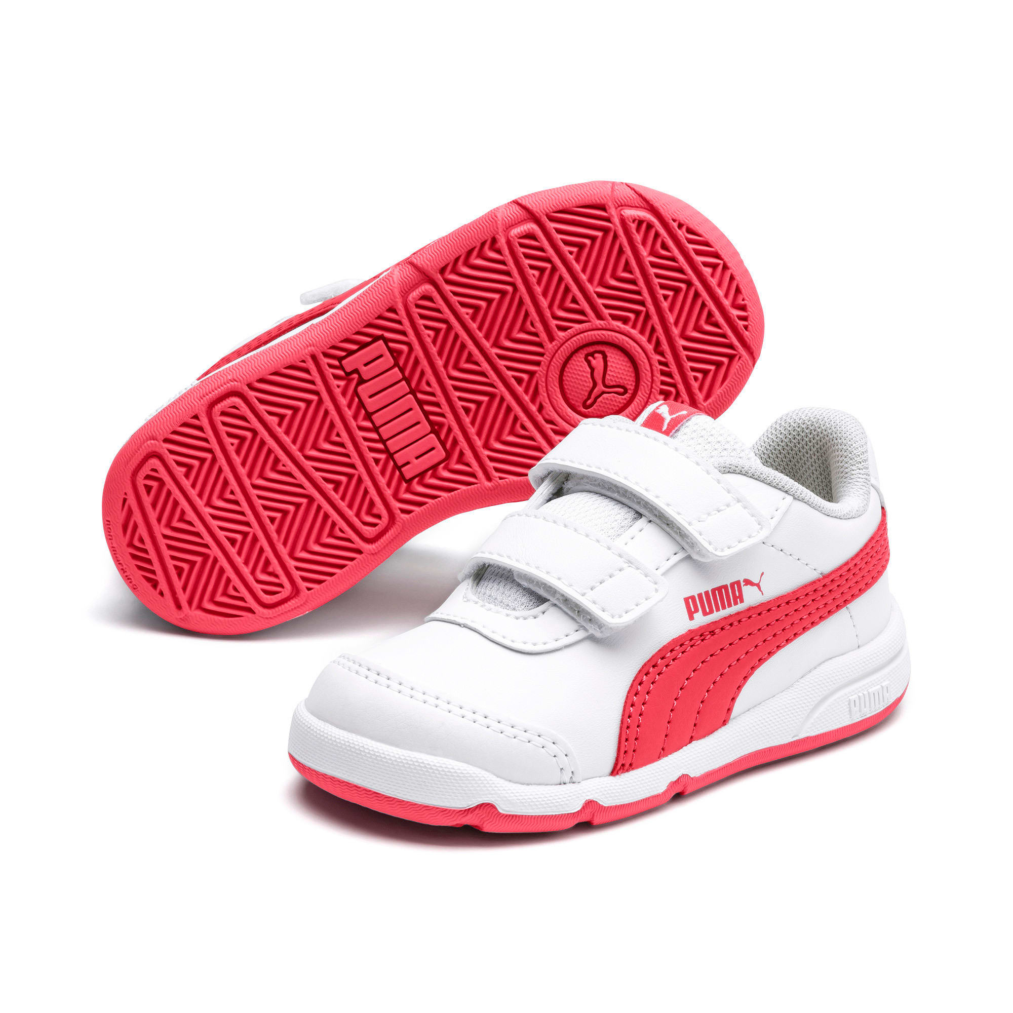 Thumbnail 2 of Stepfleex 2 SL VE V Babies Sneaker, White-Calypso Coral-G Gray, medium