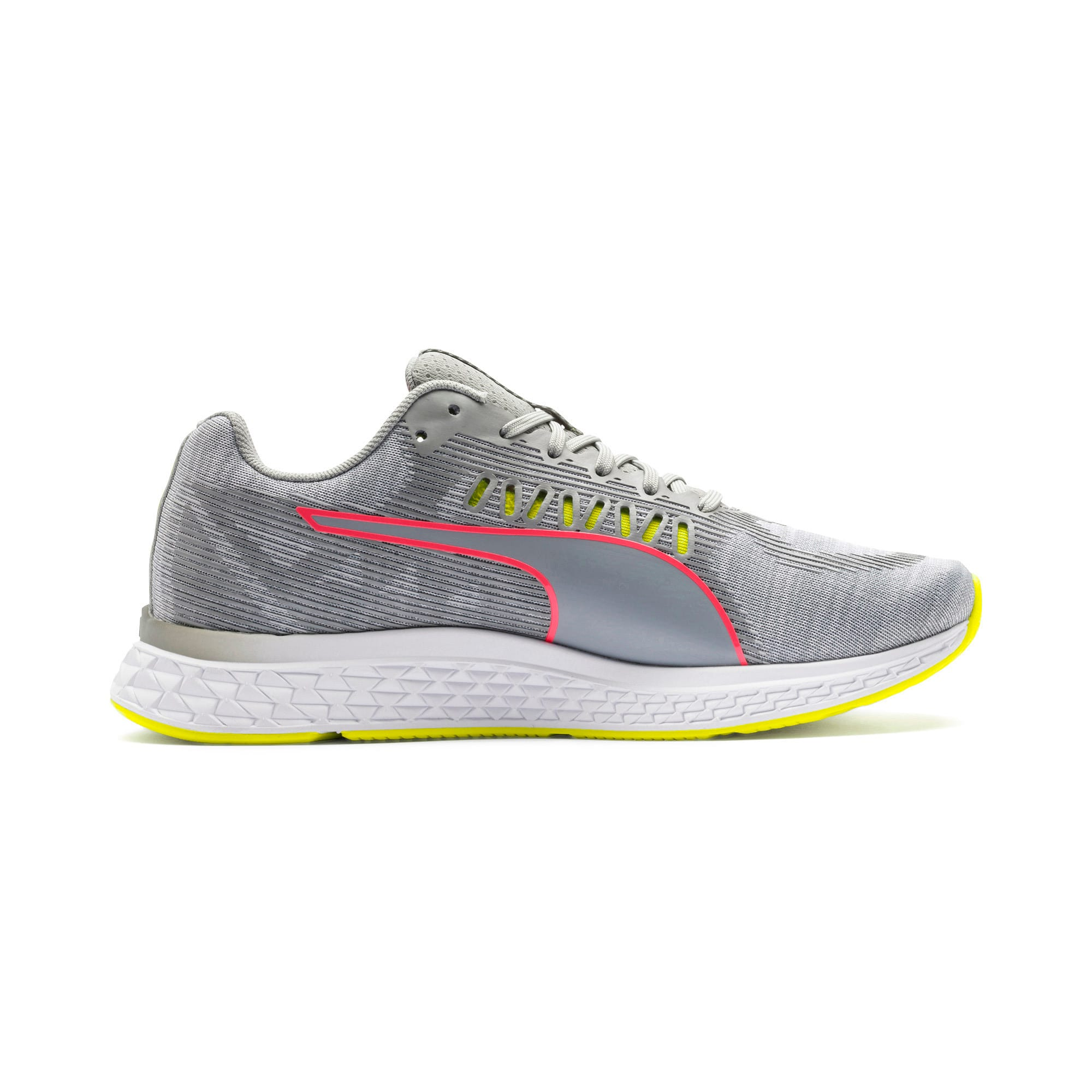 Thumbnail 7 of Speed Sutamina Women's Running Shoes, Quarry-Yellow Alert-Pink, medium