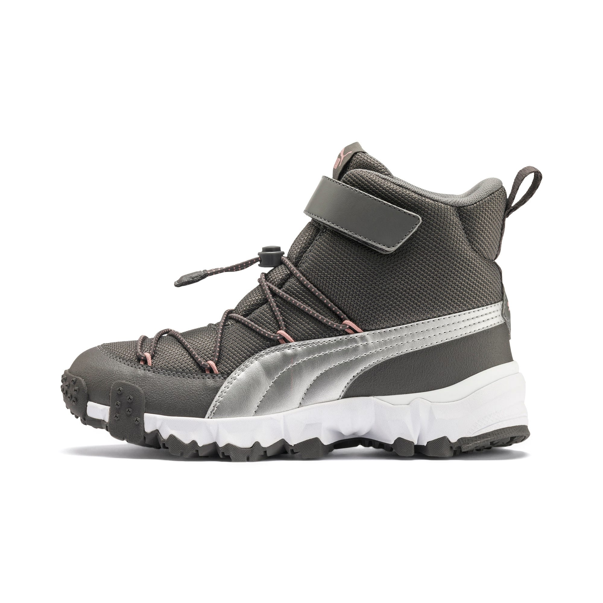 Thumbnail 1 of Maka V Youth Trainers, Steel Gray-Bridal Rose, medium