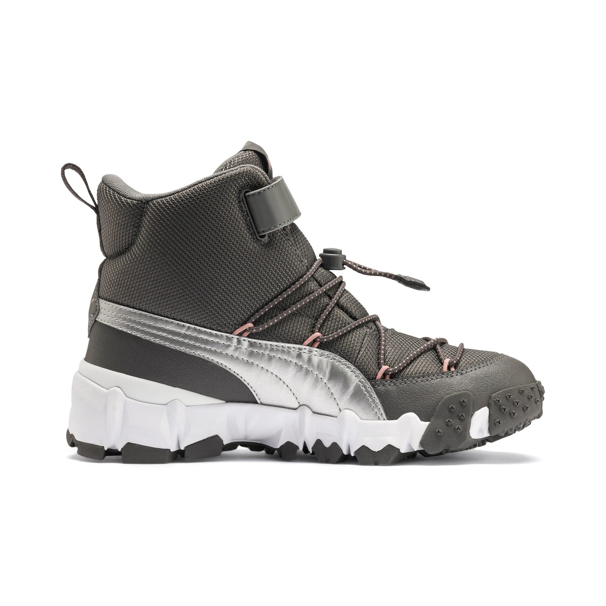 Thumbnail 5 of Maka V Youth Trainers, Steel Gray-Bridal Rose, medium