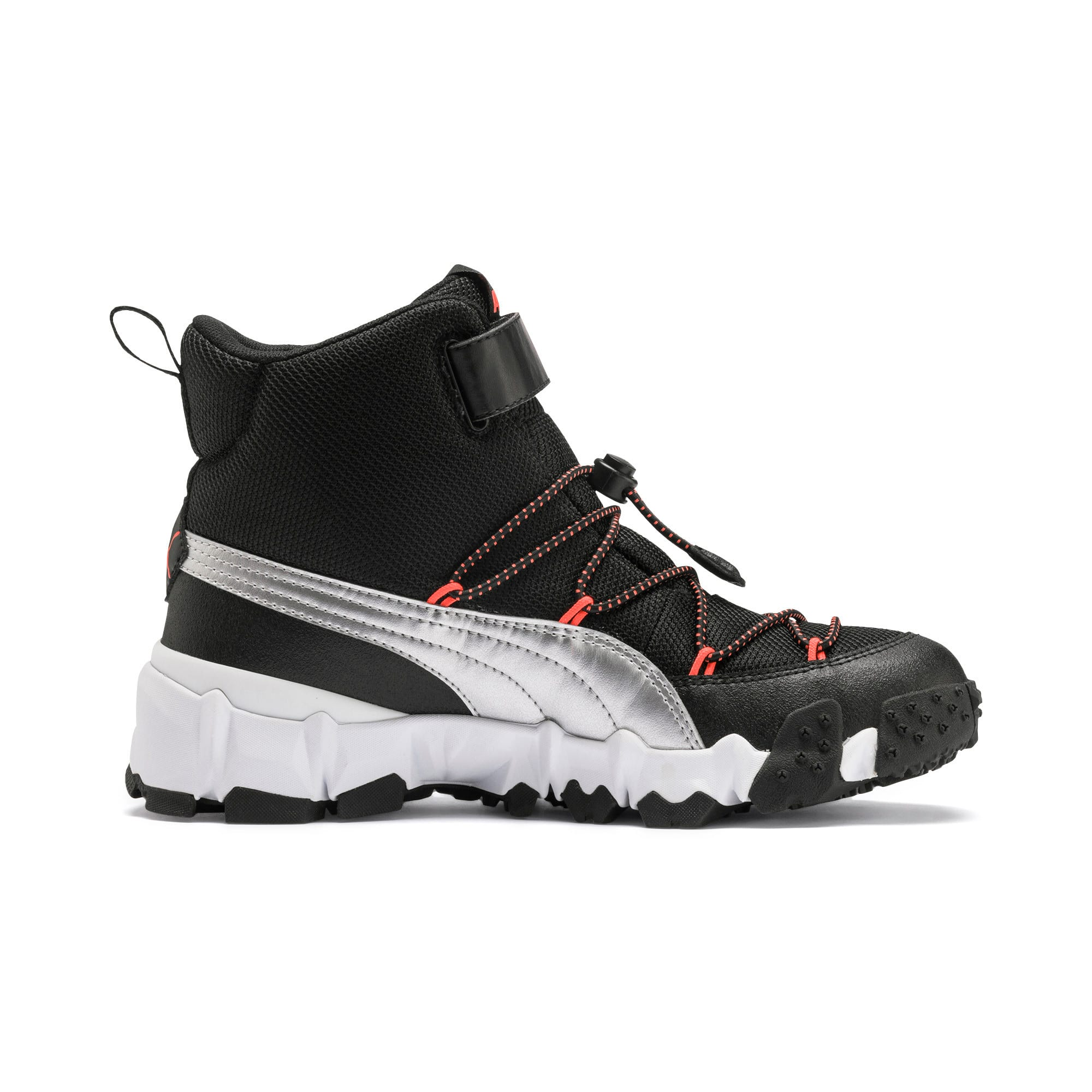 Thumbnail 5 of Maka V Youth Trainers, Puma Black-Nrgy Red, medium