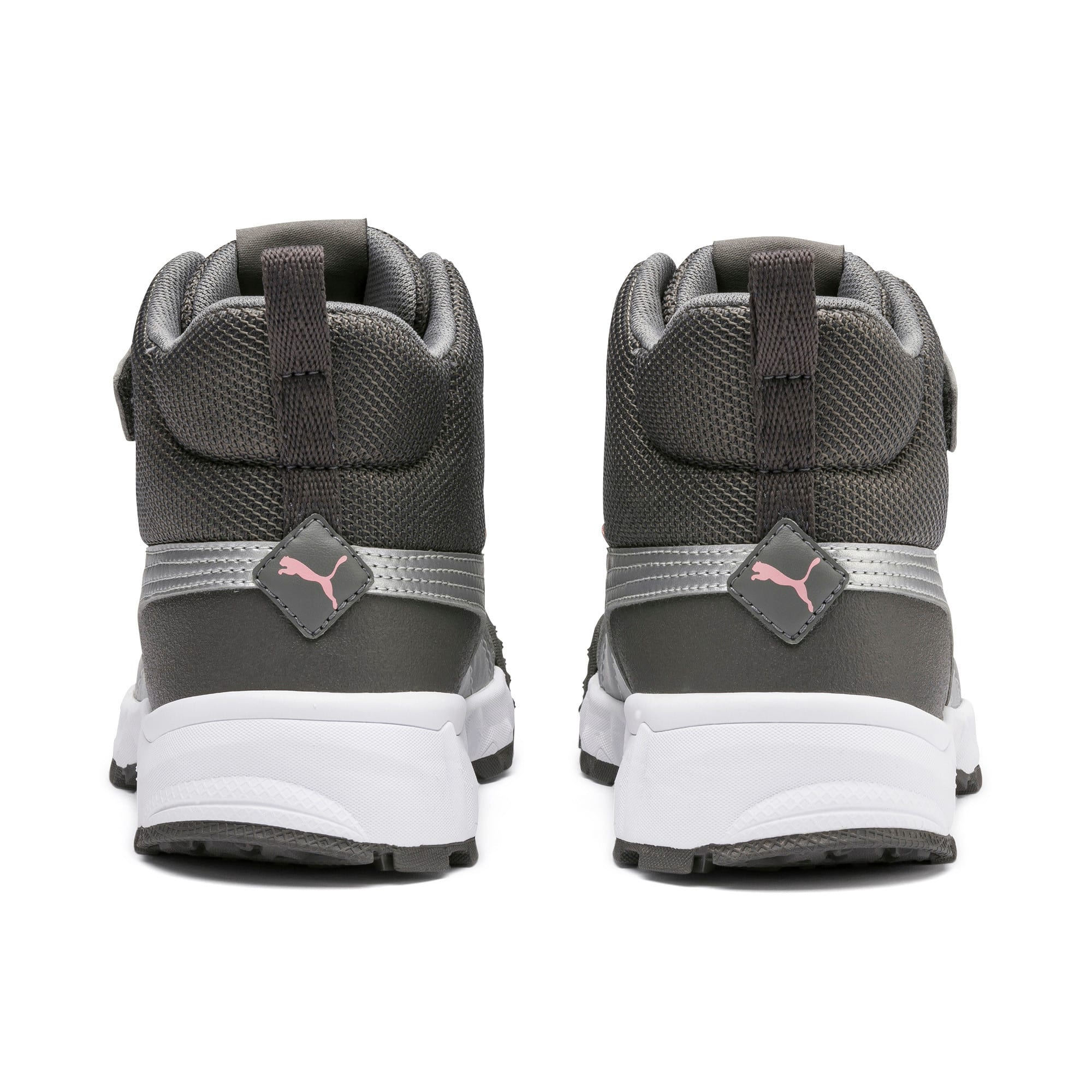 Thumbnail 3 of Maka V Kids' Trainers, Steel Gray-Bridal Rose, medium