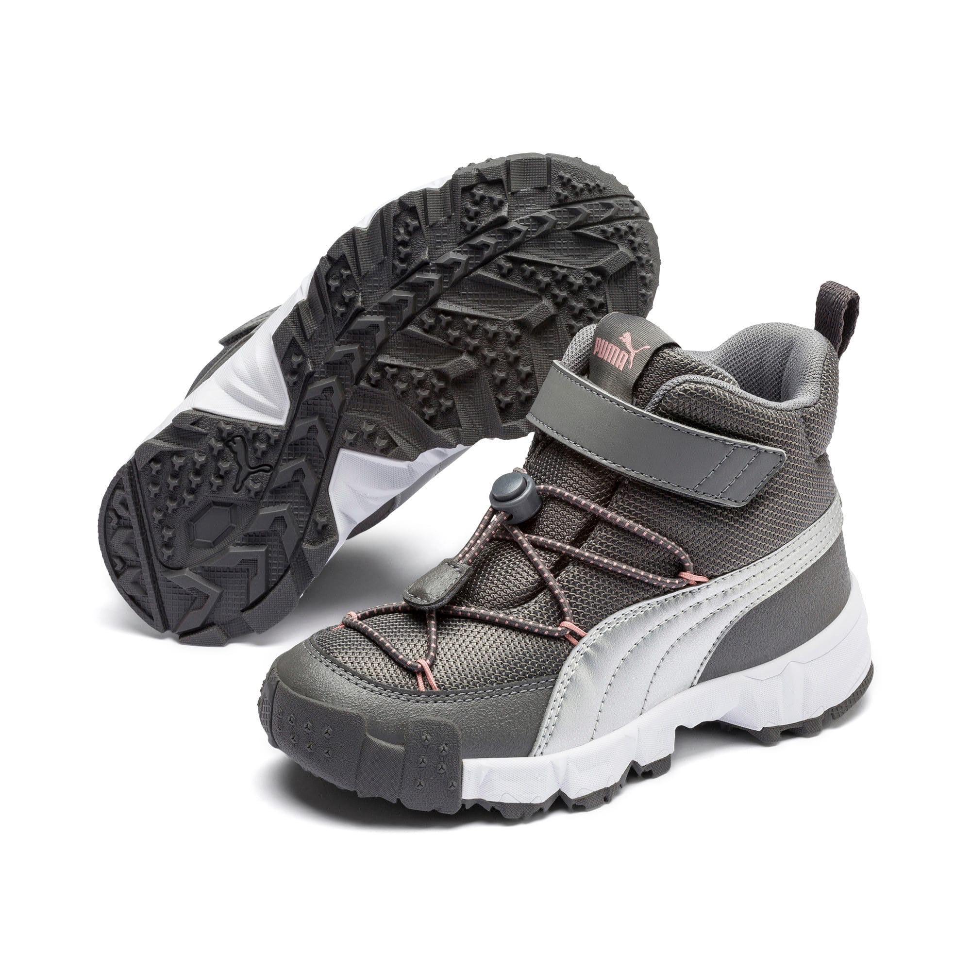 Thumbnail 2 of Maka V Kids' Trainers, Steel Gray-Bridal Rose, medium