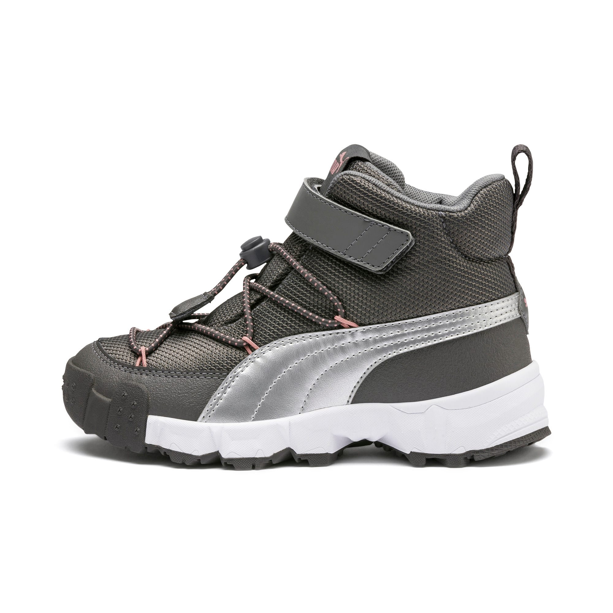 Thumbnail 1 of Maka V Kids' Trainers, Steel Gray-Bridal Rose, medium