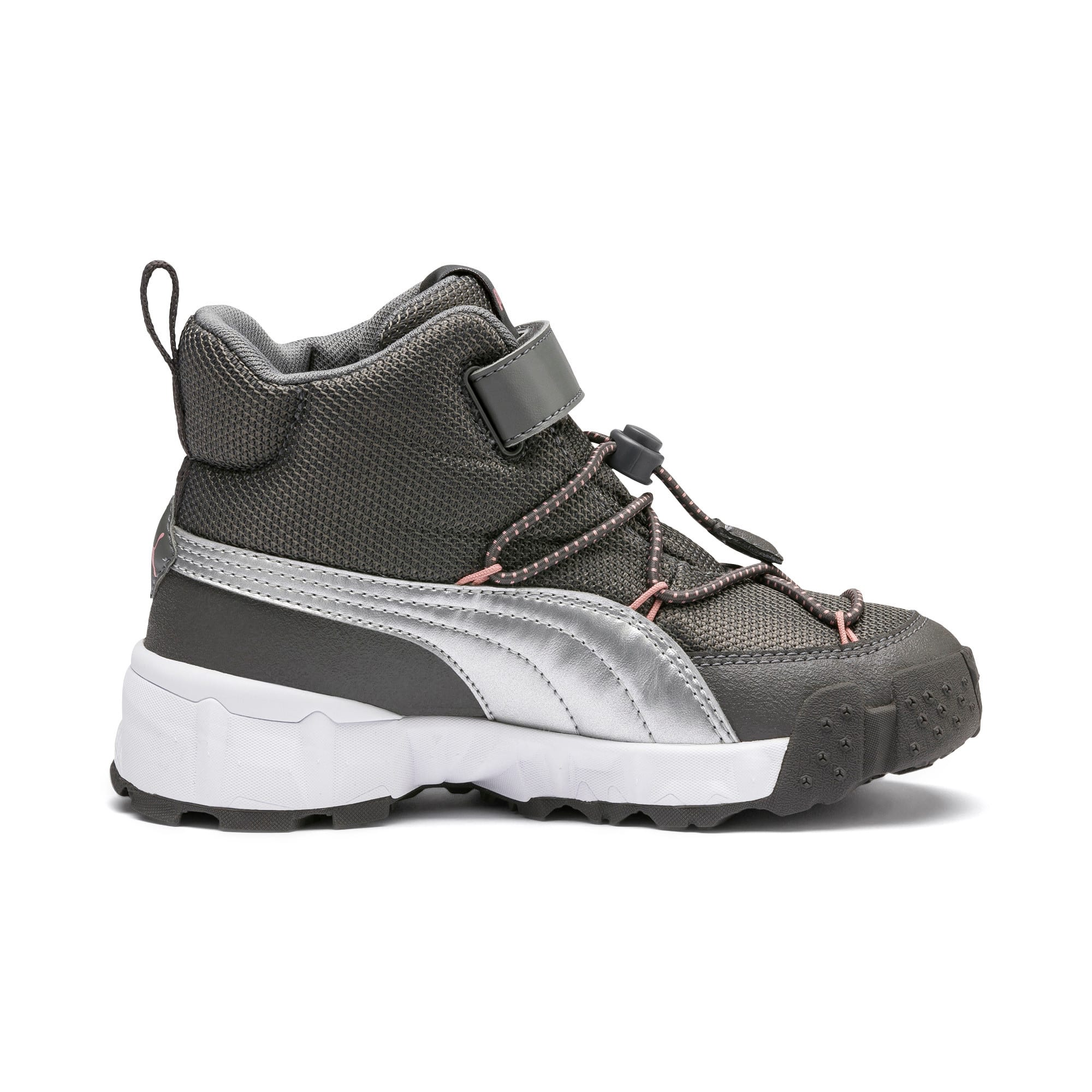 Thumbnail 5 of Maka V Kids' Trainers, Steel Gray-Bridal Rose, medium