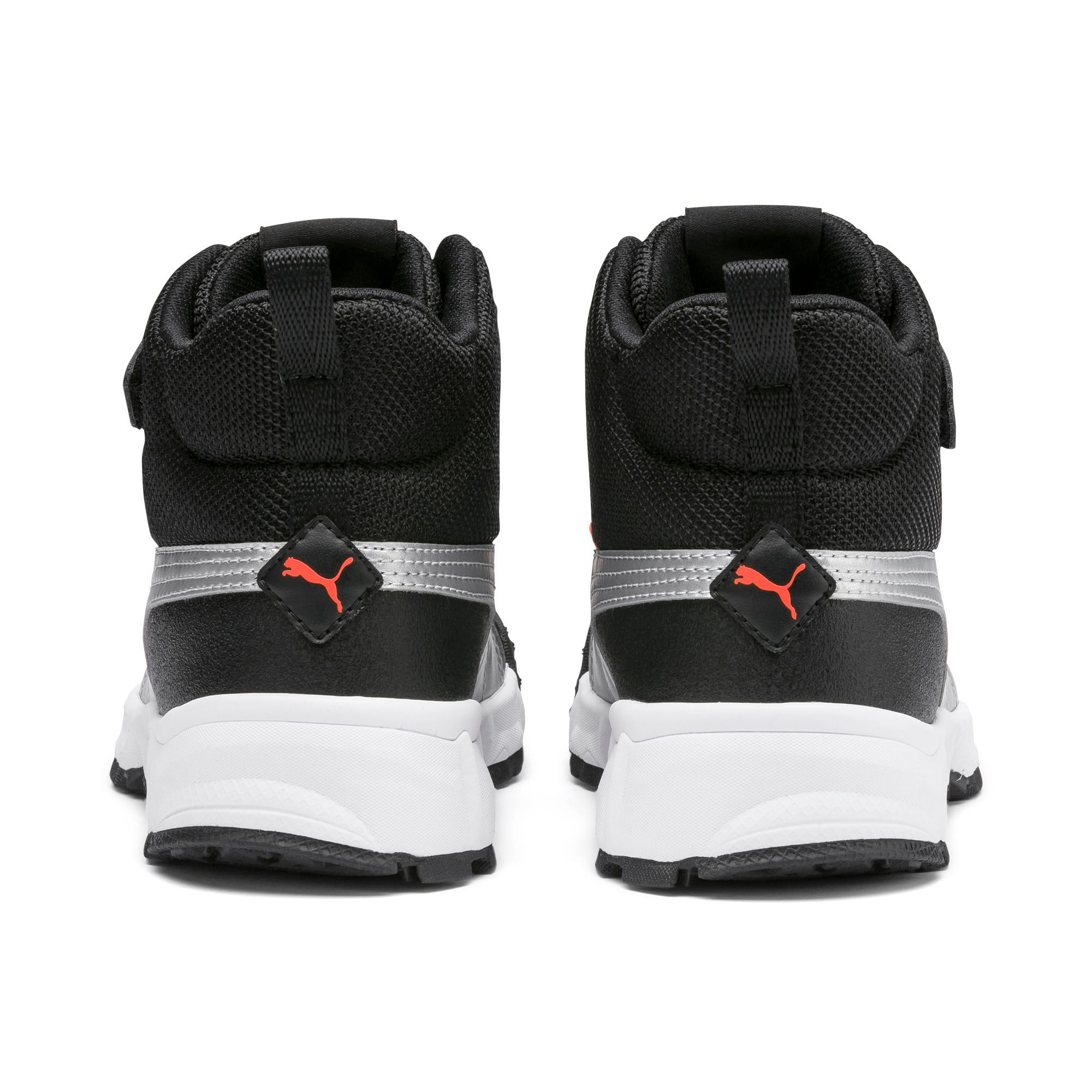 Thumbnail 3 of Maka V Kids Sneaker, Puma Black-Nrgy Red, medium