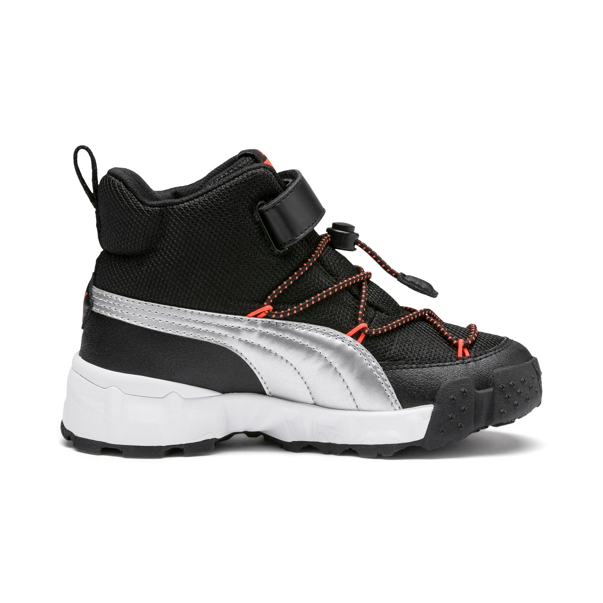 Thumbnail 5 of Maka V Kids Sneaker, Puma Black-Nrgy Red, medium