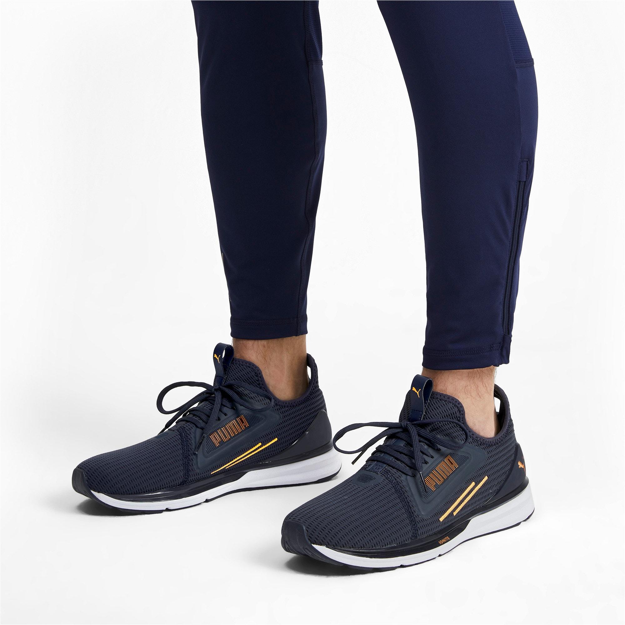 Thumbnail 3 of IGNITE Limitless Lean Running Shoes, Peacoat-Orange Alert, medium-IND