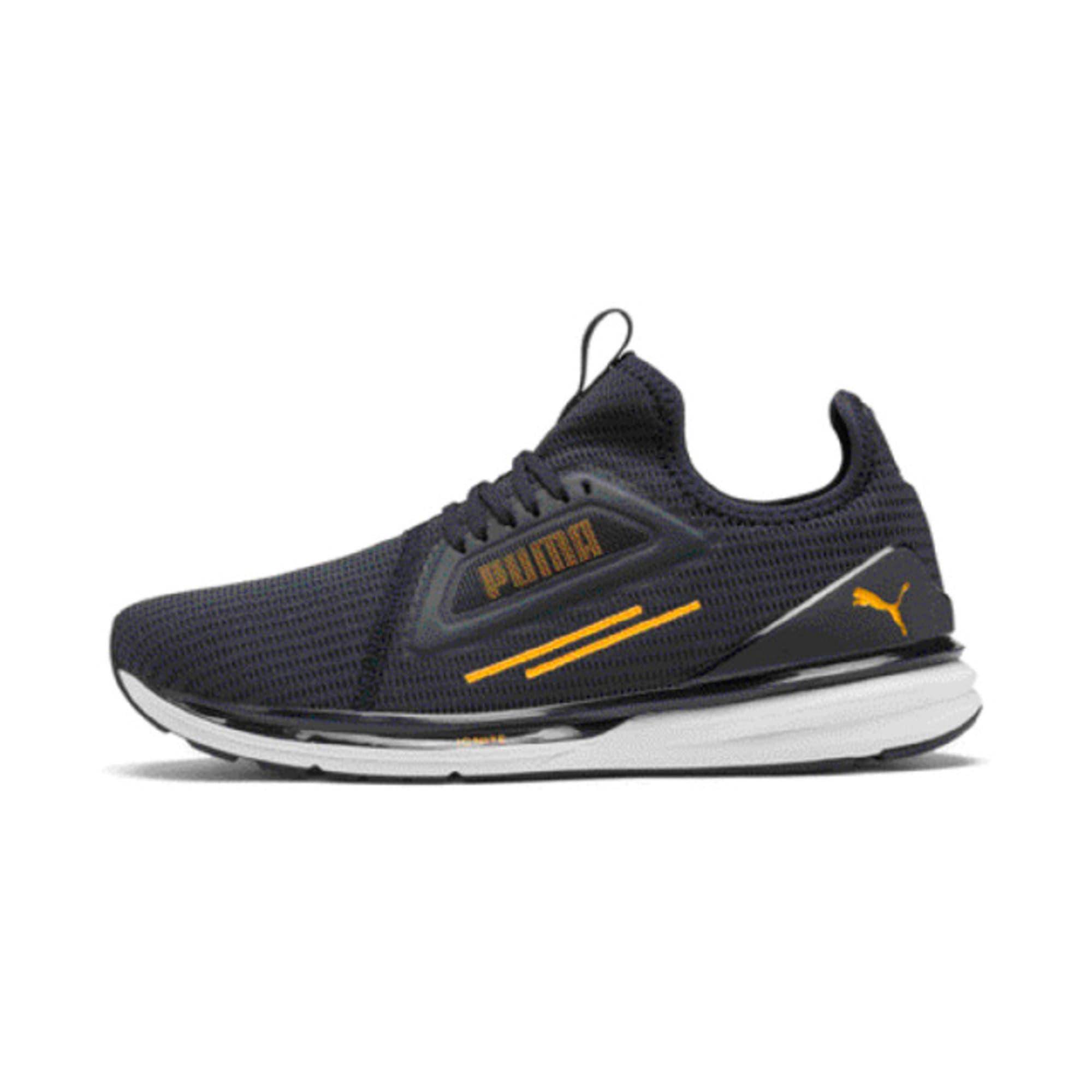 Thumbnail 1 of IGNITE Limitless Lean Running Shoes, Peacoat-Orange Alert, medium-IND