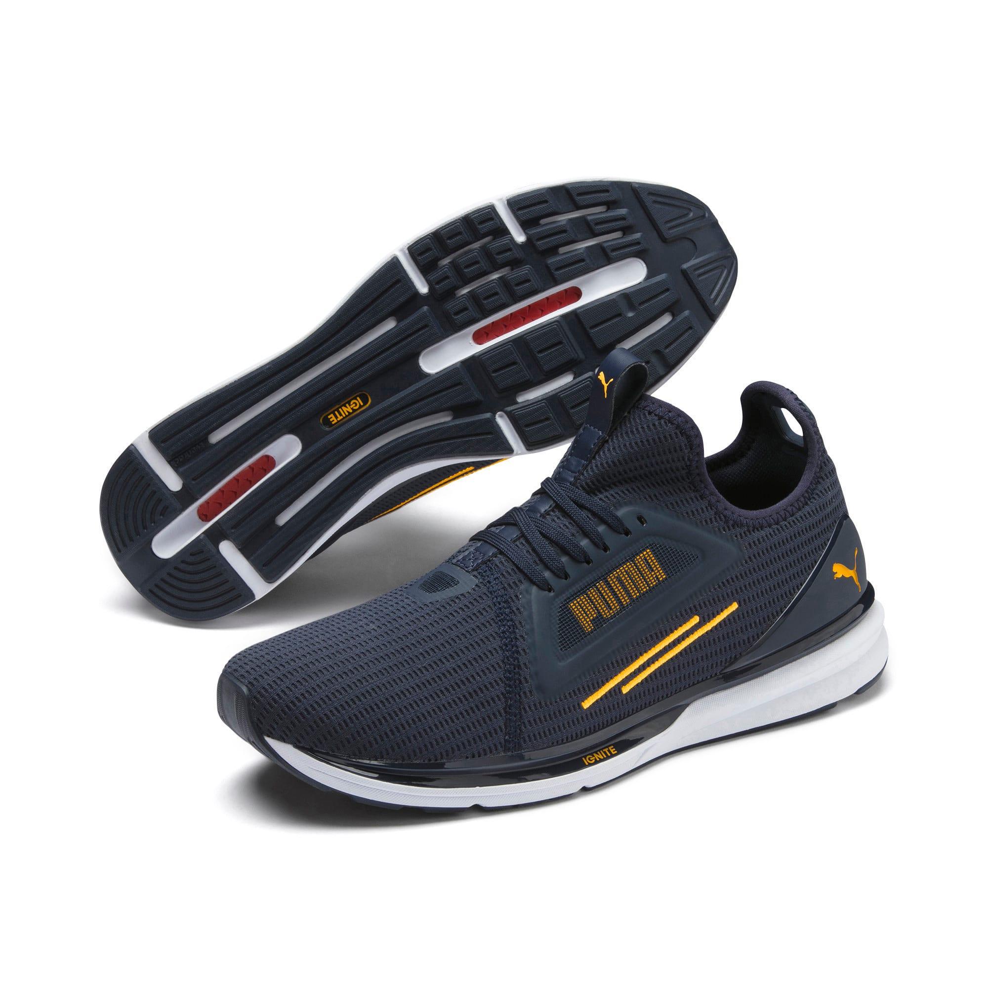Thumbnail 8 of IGNITE Limitless Lean Running Shoes, Peacoat-Orange Alert, medium-IND