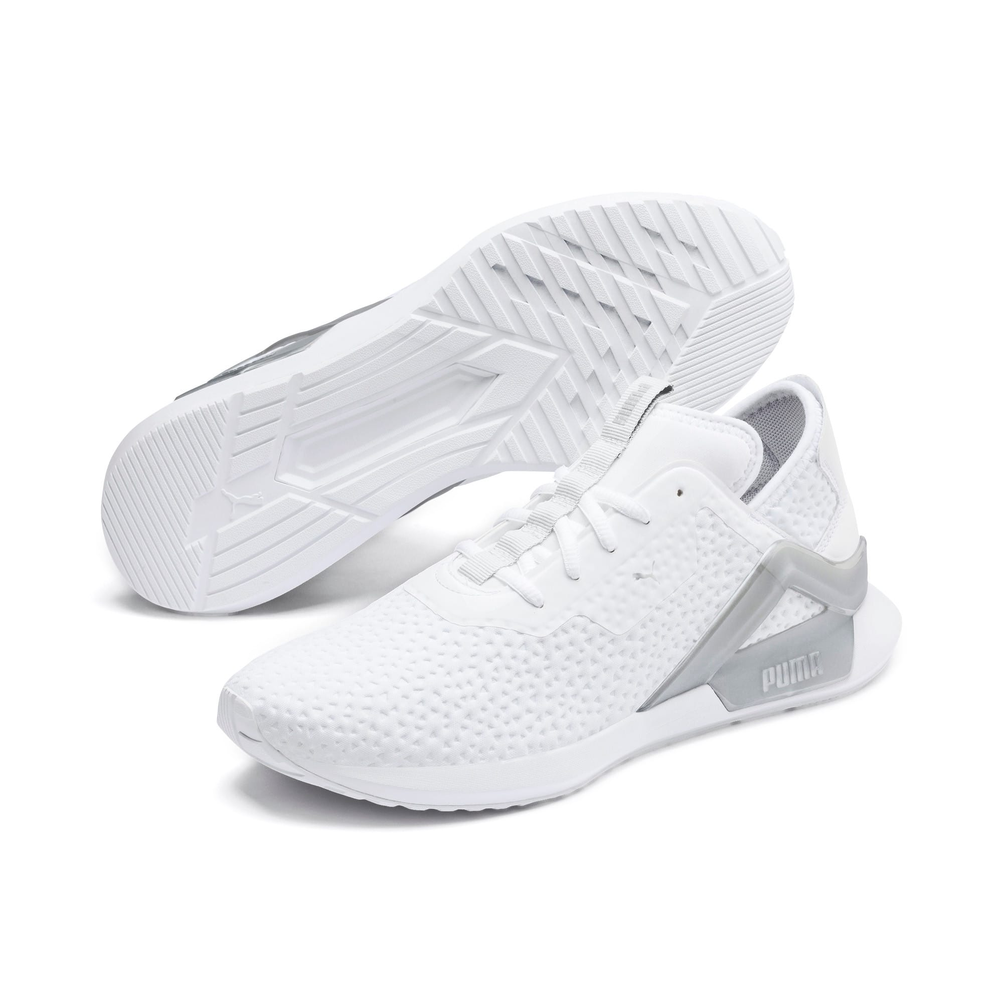 Thumbnail 3 of Rogue X Metallic Herren Sneaker, Puma White-Puma Silver, medium