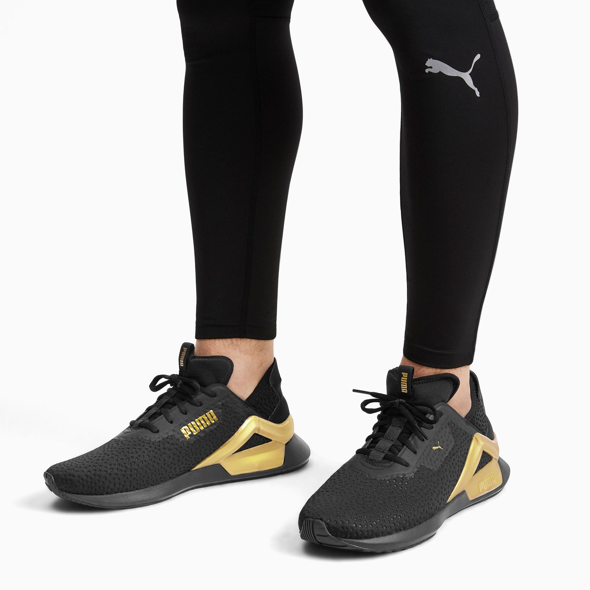 Thumbnail 2 of Rogue X Metallic Herren Sneaker, Puma Black-Gold, medium