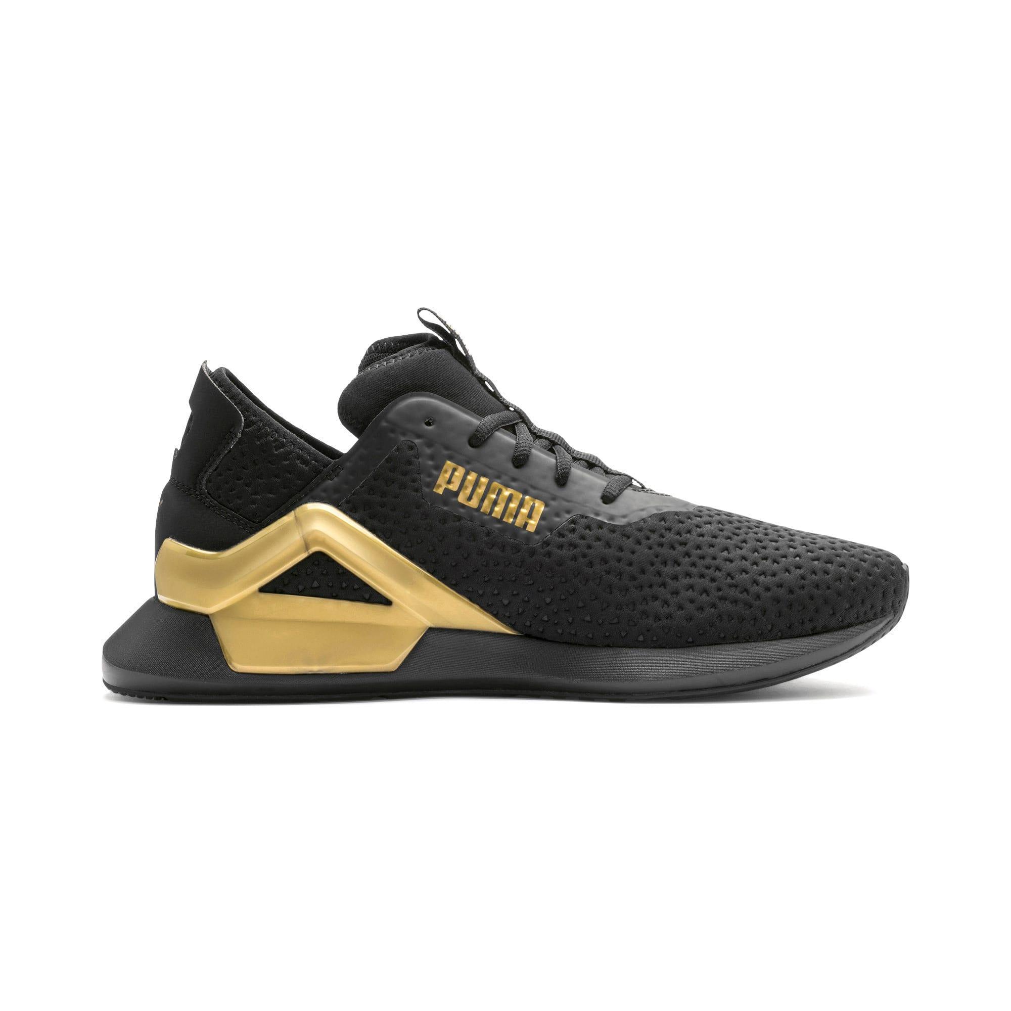 Thumbnail 6 of Rogue X Metallic Herren Sneaker, Puma Black-Gold, medium
