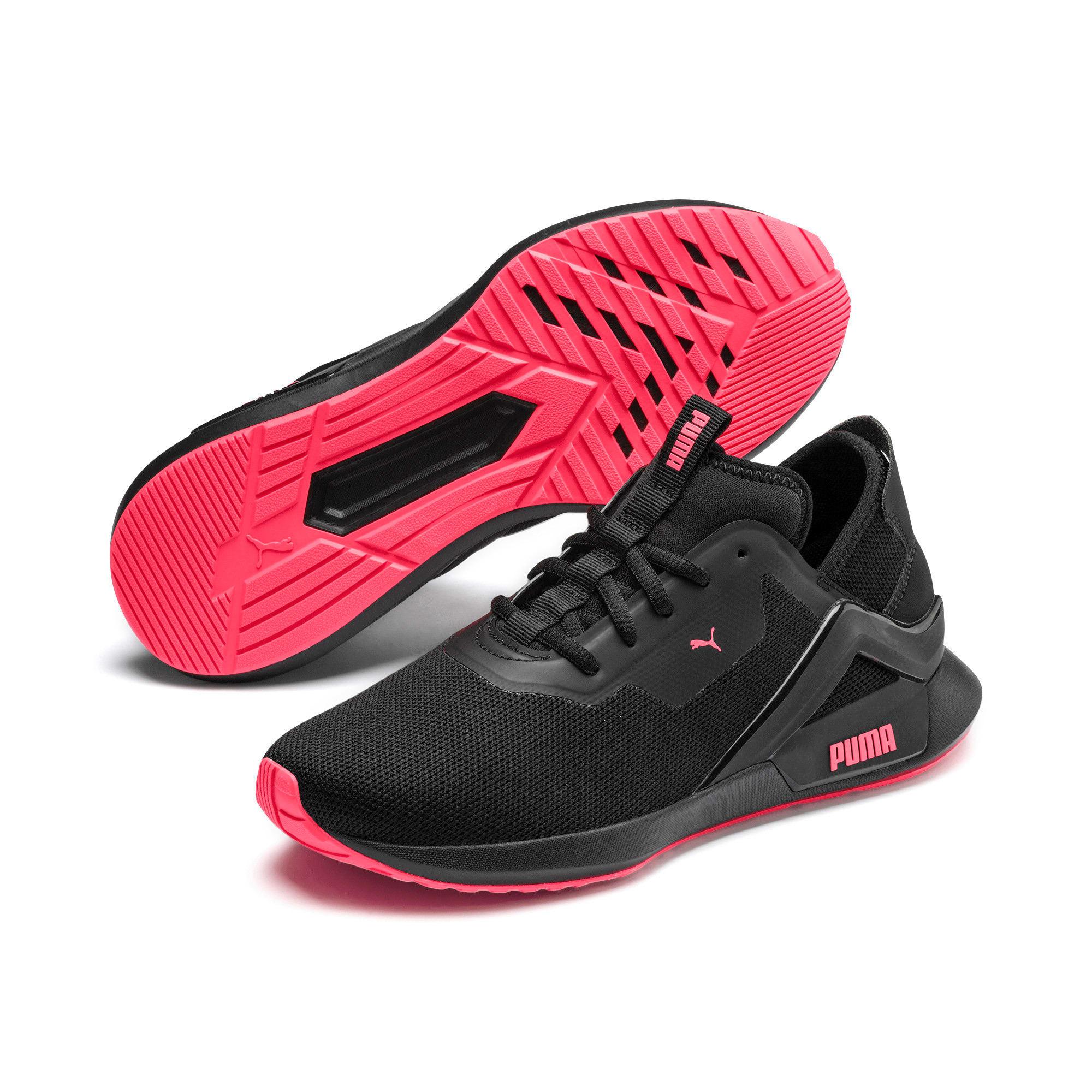 Thumbnail 4 of Rogue X Knit Women's Running Shoes, Puma Black-Pink Alert, medium-IND