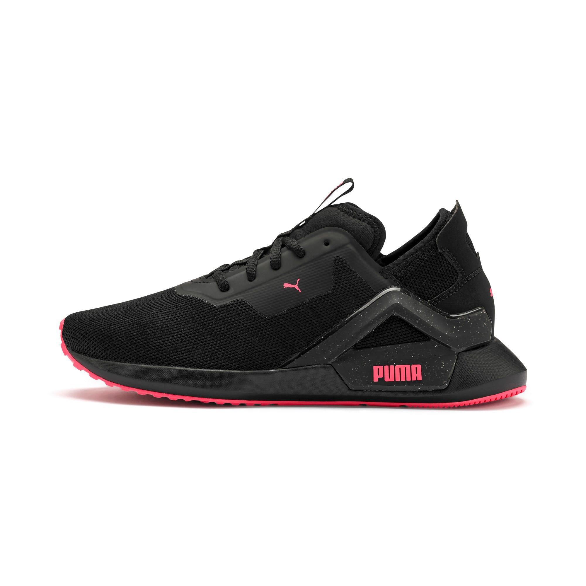 Thumbnail 1 of Rogue X Knit Women's Running Shoes, Puma Black-Pink Alert, medium-IND