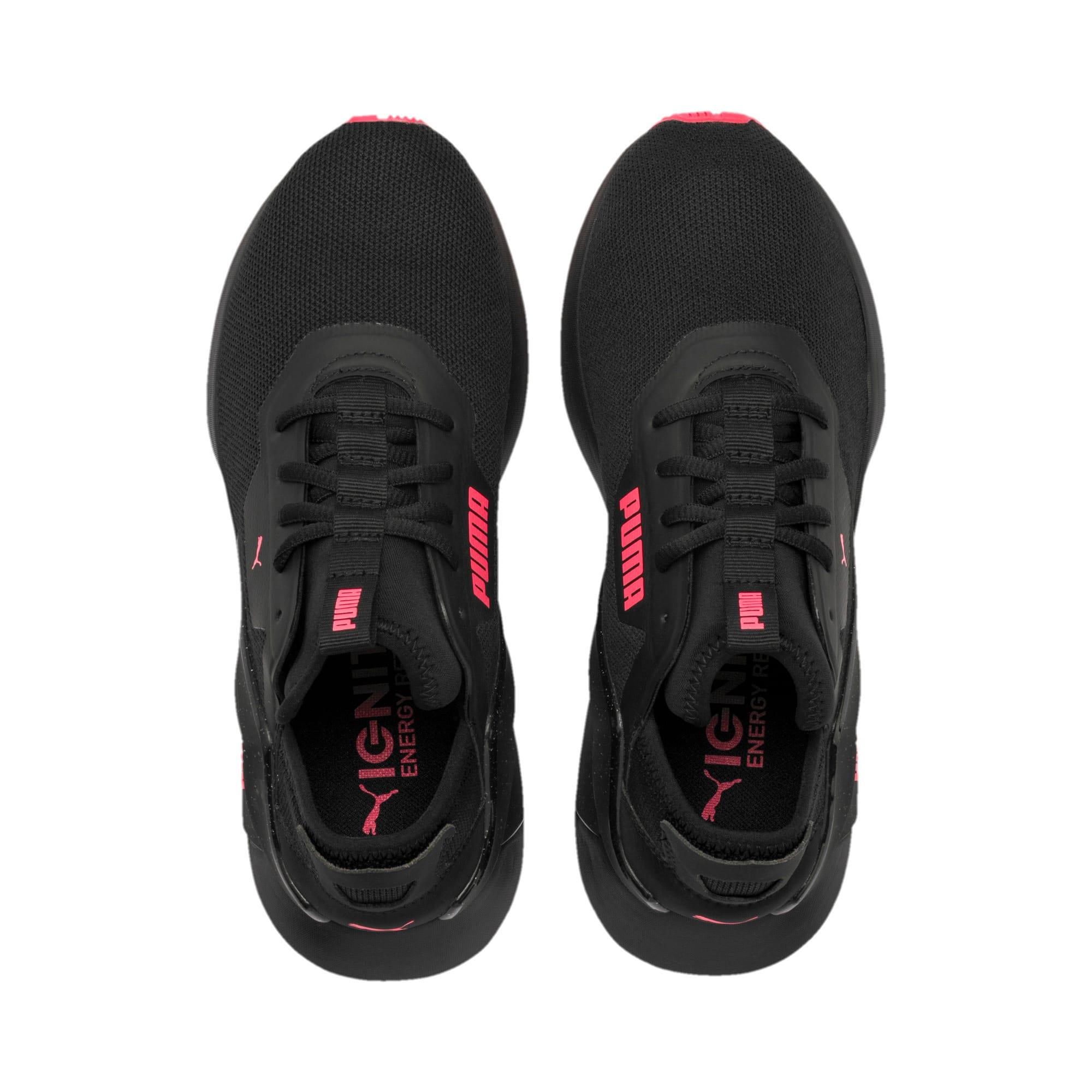 Thumbnail 8 of Rogue X Knit Women's Running Shoes, Puma Black-Pink Alert, medium-IND