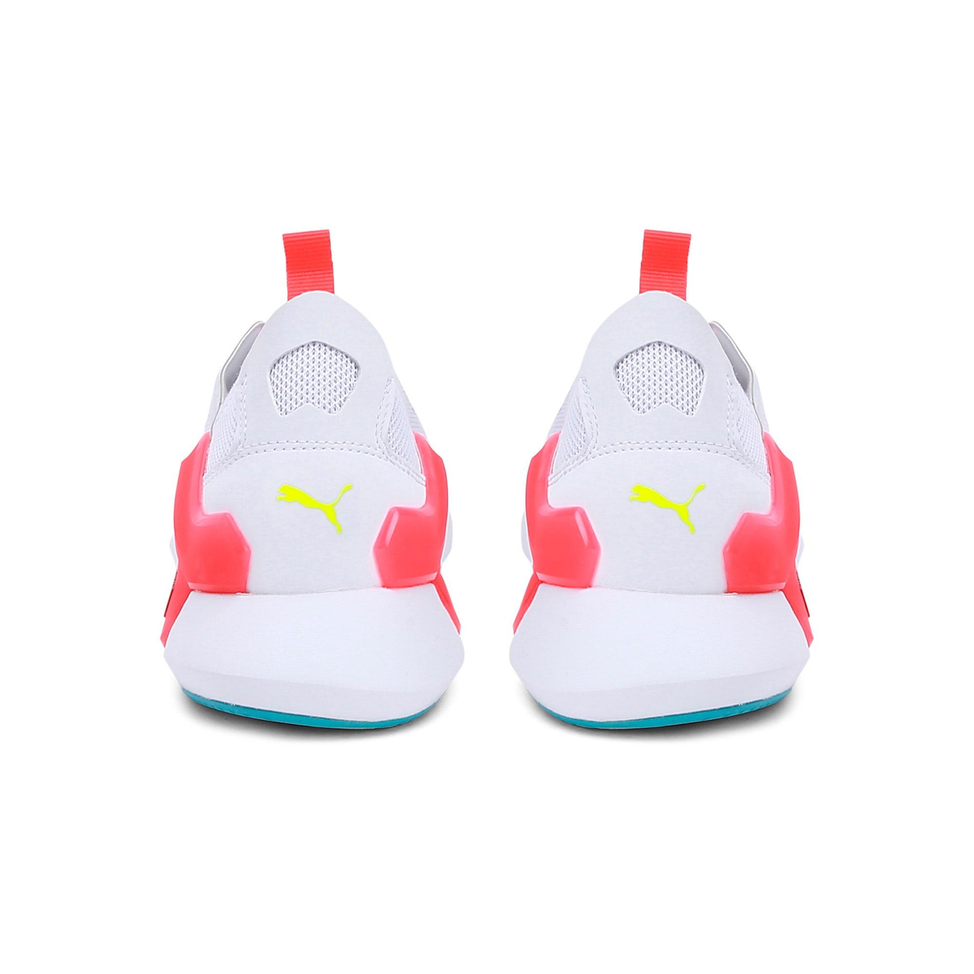 Thumbnail 5 of Rogue X Knit Women's Running Shoes, Puma White-Pink Alert, medium-IND