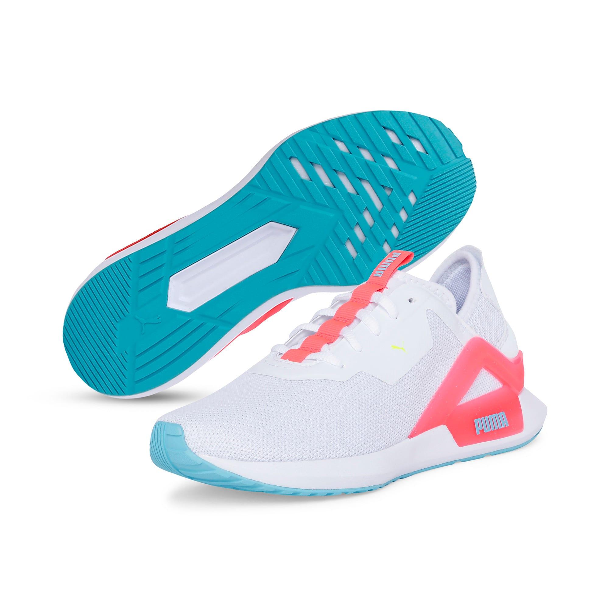 Thumbnail 4 of Rogue X Knit Women's Running Shoes, Puma White-Pink Alert, medium-IND