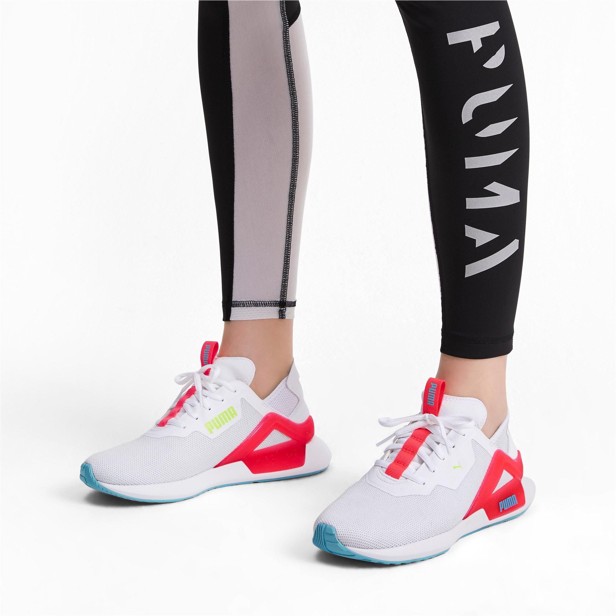 Thumbnail 3 of Rogue X Knit Women's Running Shoes, Puma White-Pink Alert, medium-IND