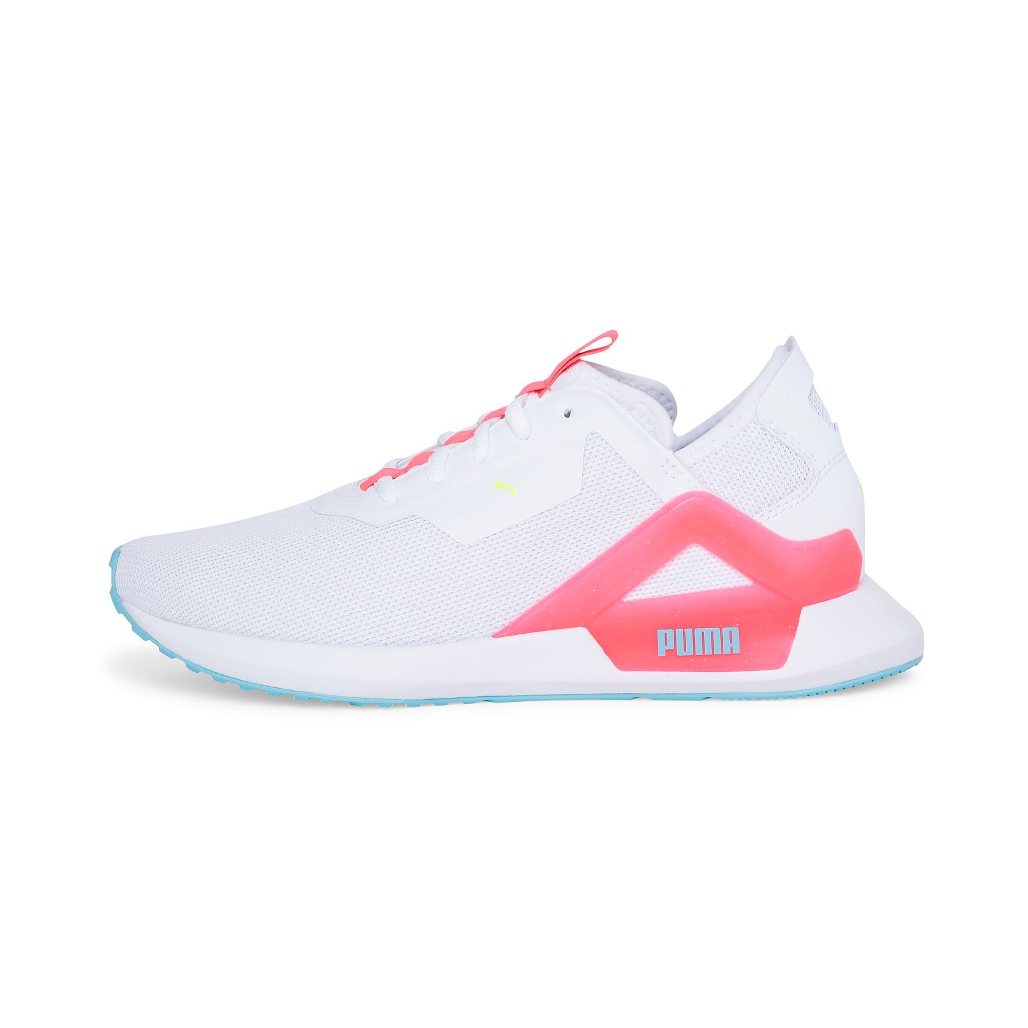 Thumbnail 1 of Rogue X Knit Women's Running Shoes, Puma White-Pink Alert, medium-IND