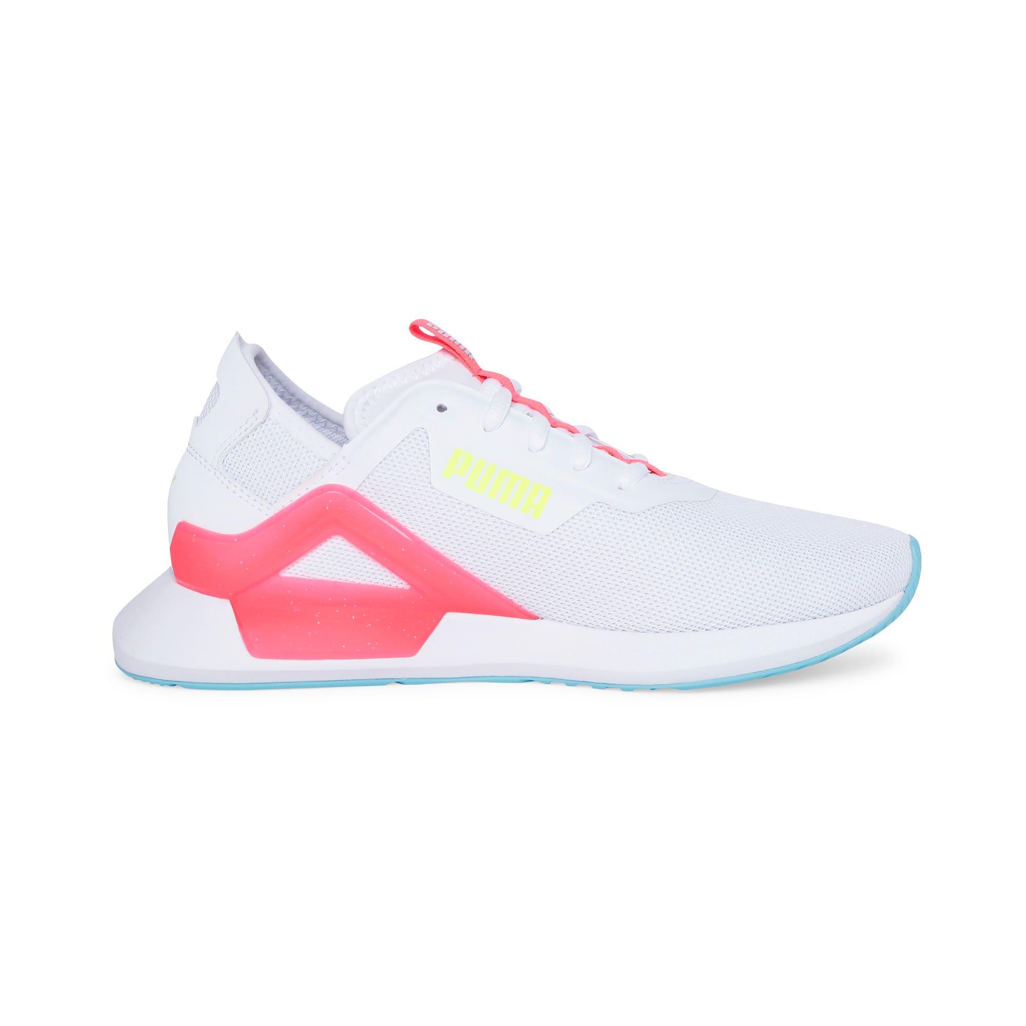 Thumbnail 7 of Rogue X Knit Women's Running Shoes, Puma White-Pink Alert, medium-IND