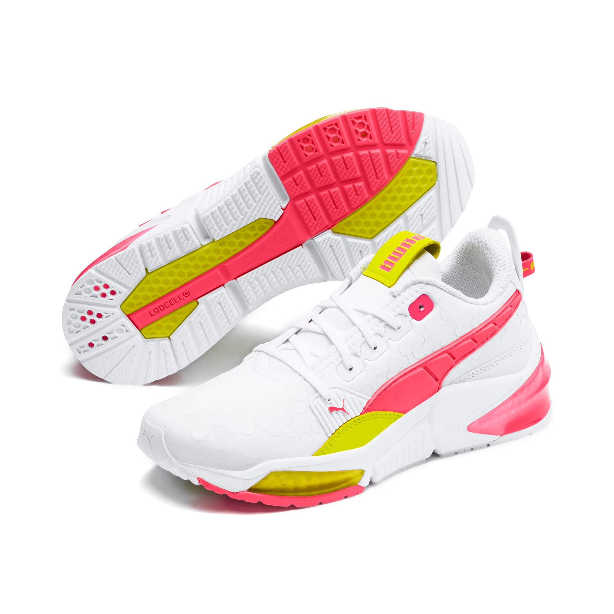 Thumbnail 3 of LQDCELL Optic Training Shoes, Puma White-Y Alert-Pin Alert, medium