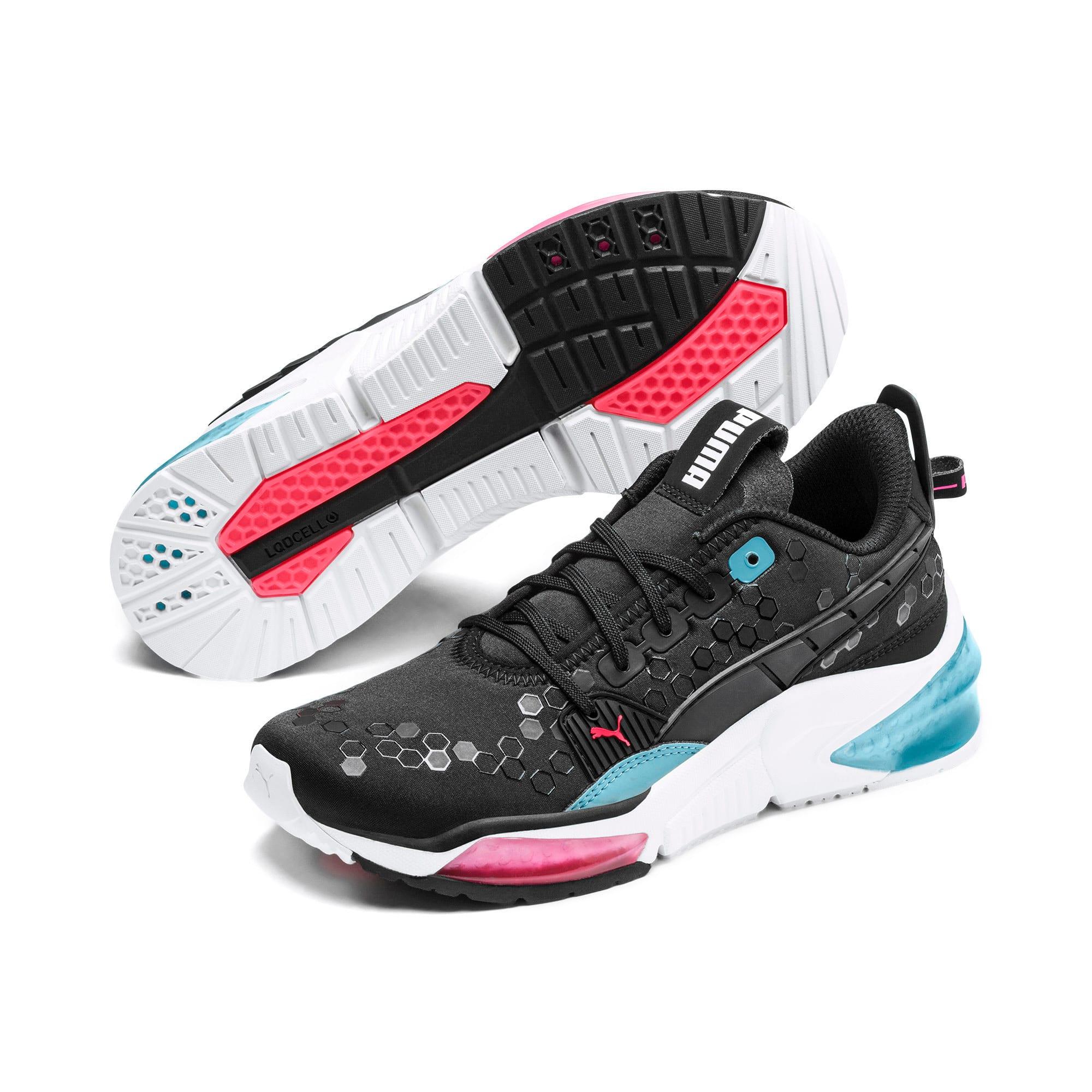 Thumbnail 3 of LQDCELL Optic Training Shoes, Puma Black-M Blue-Pink Alert, medium