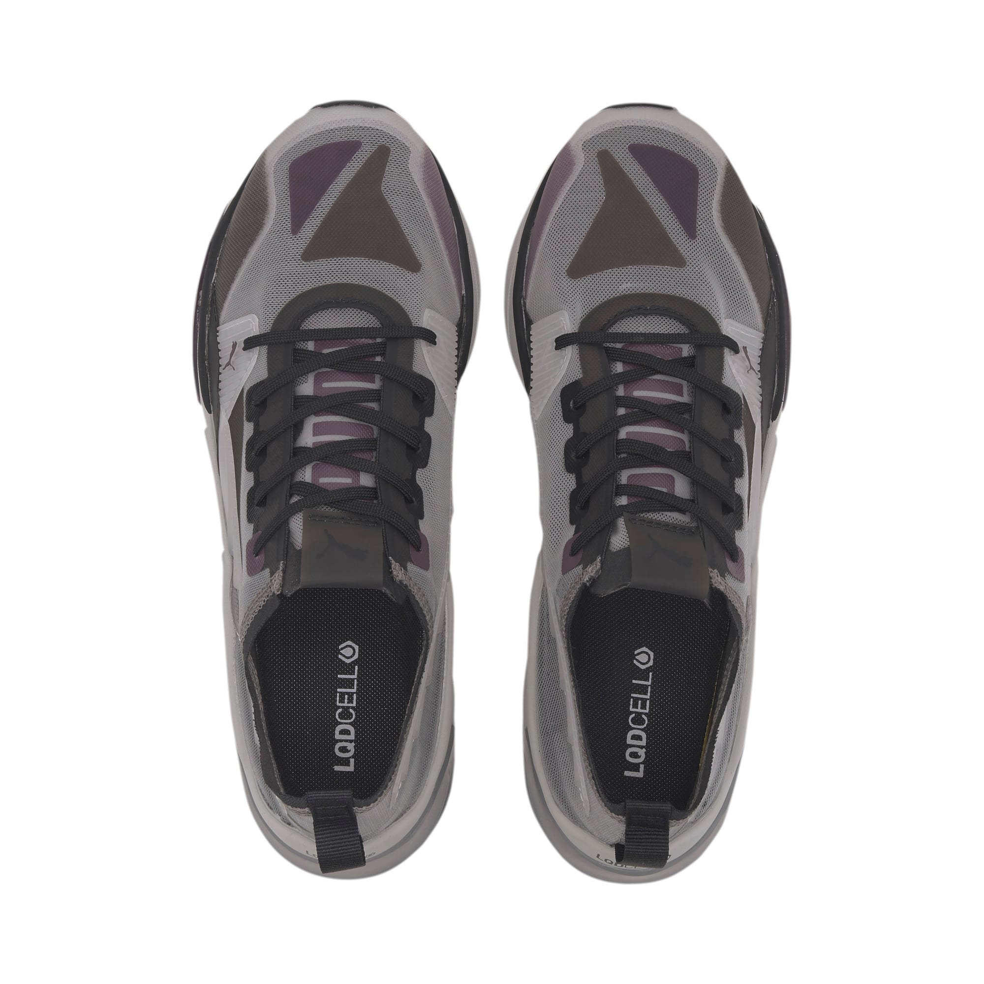 LQDCELL Optic Sheer Training Shoes, Gray Violet-Puma Black, large