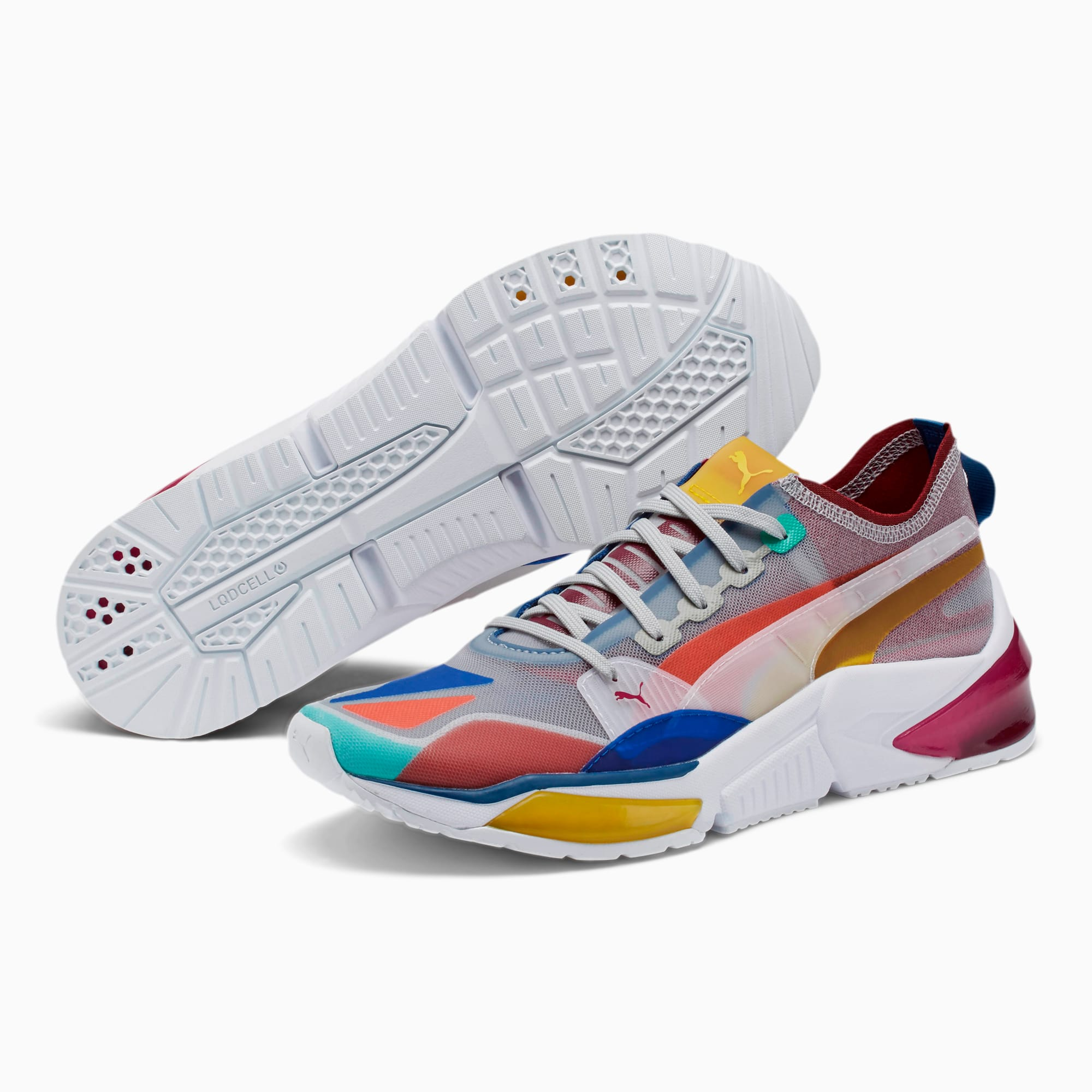New PUMA Lqdcell Optic Sheer Womens Shoes Sneakers Multi White Volt  5.5 to 11