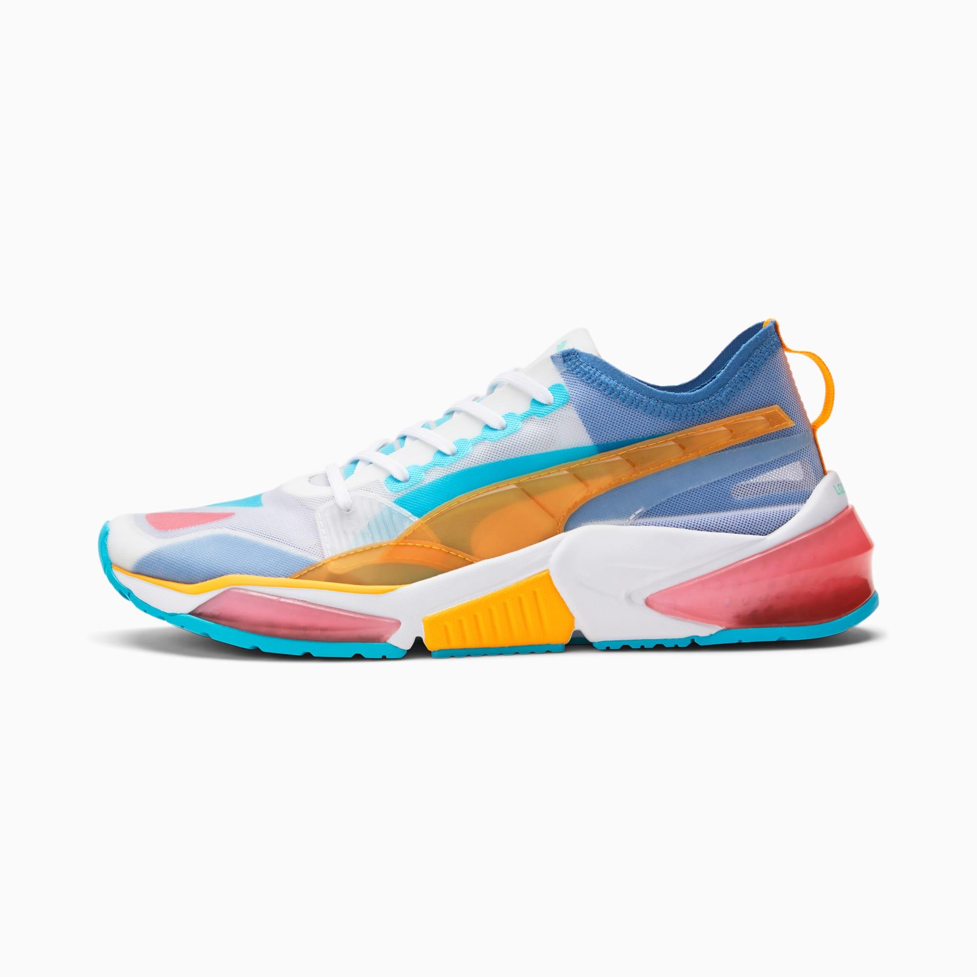 PUMA LQDCELL Optic Sheer Men's Training Shoes (White-Zinnia-Star Sapphire)