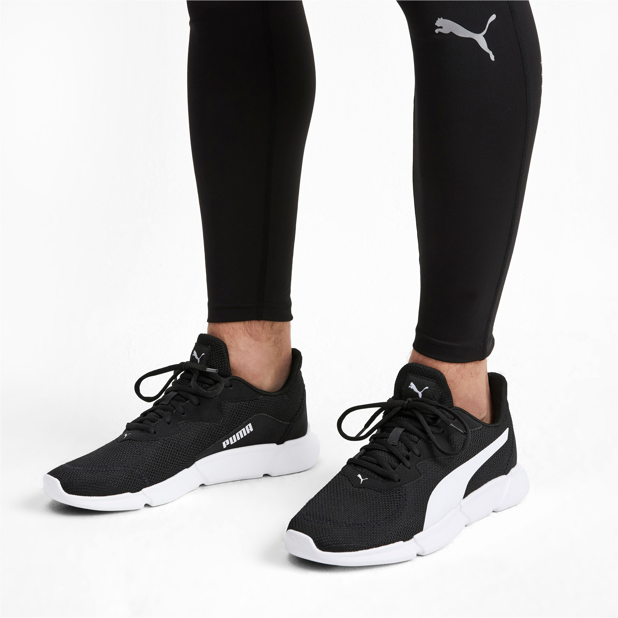 INTERFLEX Running Shoes, Puma Black-Puma White, large-IND