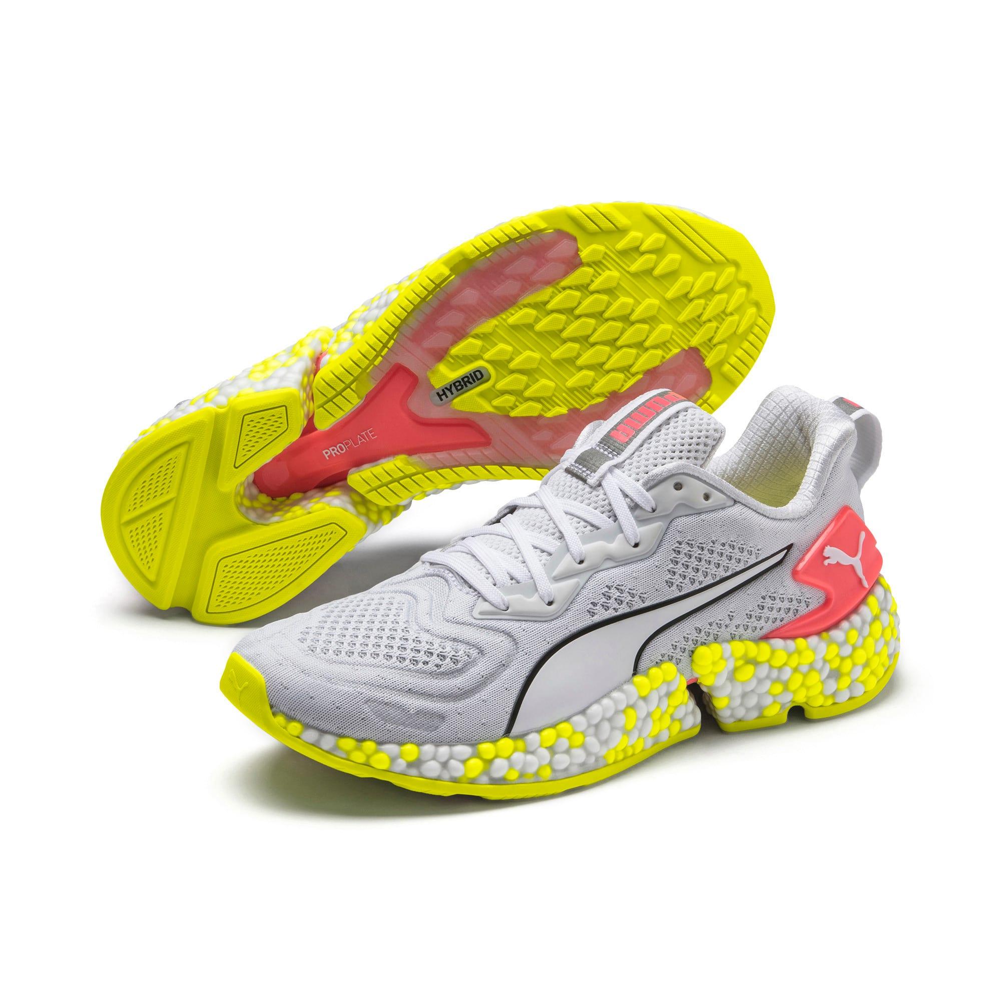 Thumbnail 3 van HYBRID SPEED Orbiter hardloopschoenen voor vrouwen, Puma White-Yellow Alert, medium