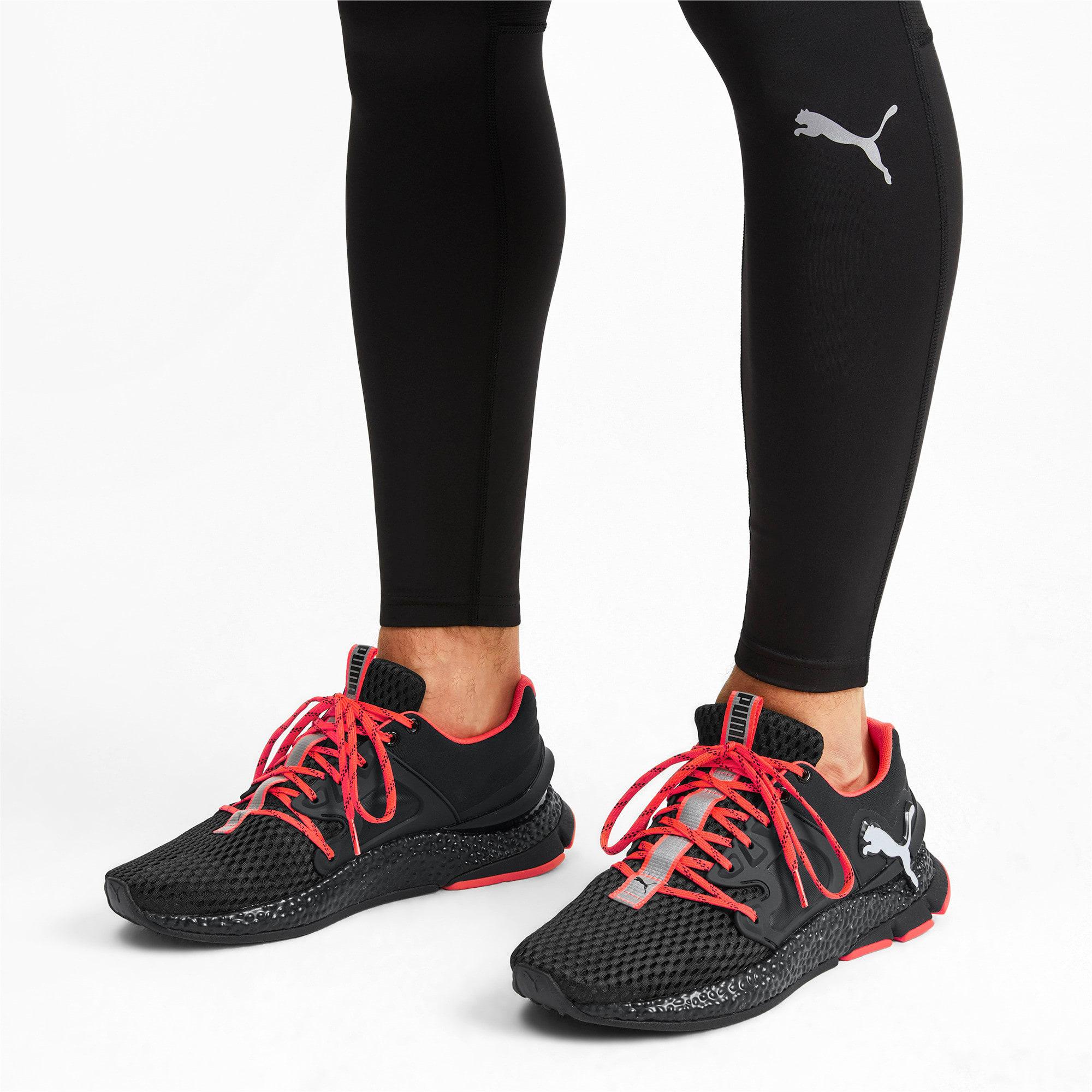 Thumbnail 2 van HYBRID Sky hardloopschoenen voor mannen, Zwart-wit-Nrgy Red, medium