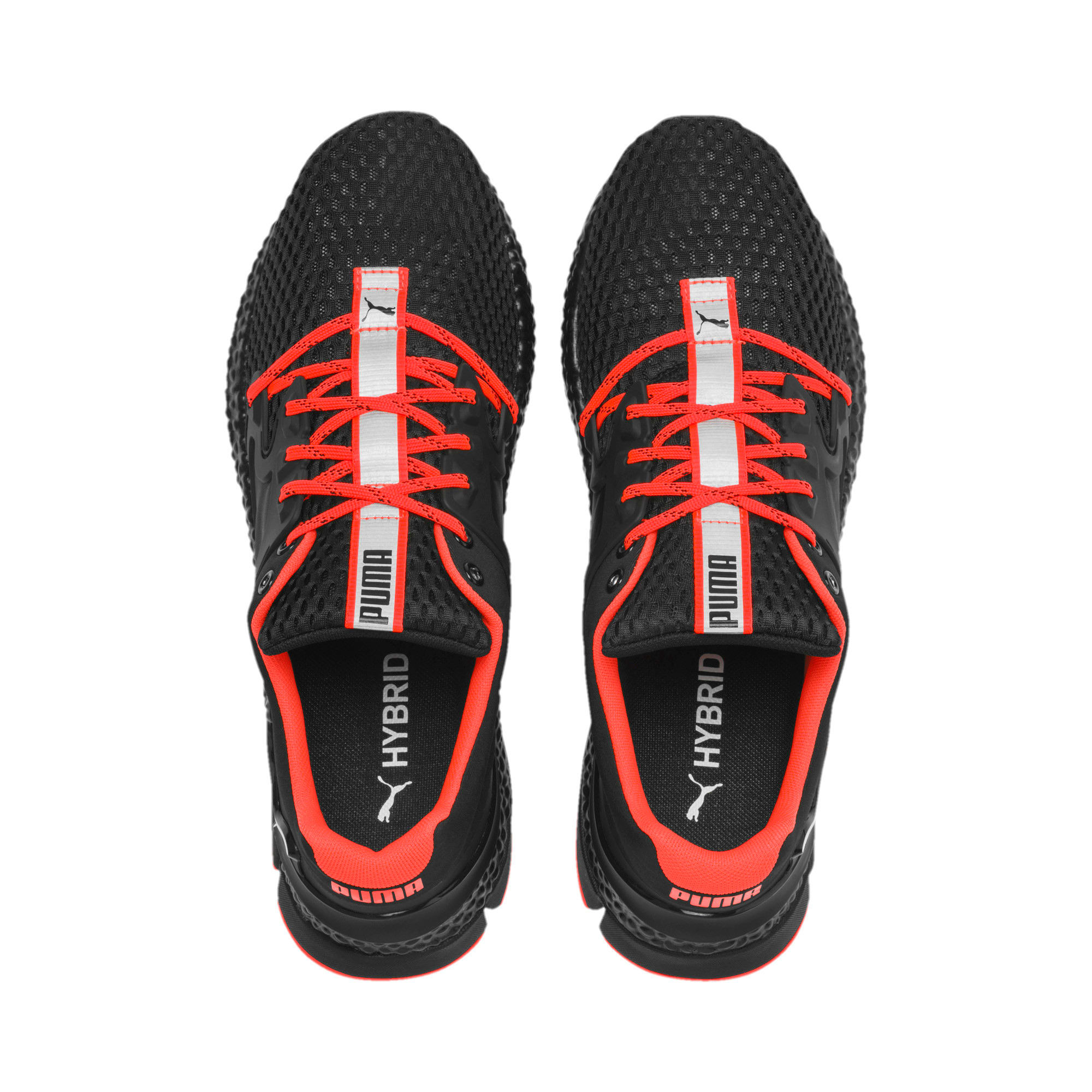 Thumbnail 7 van HYBRID Sky hardloopschoenen voor mannen, Zwart-wit-Nrgy Red, medium
