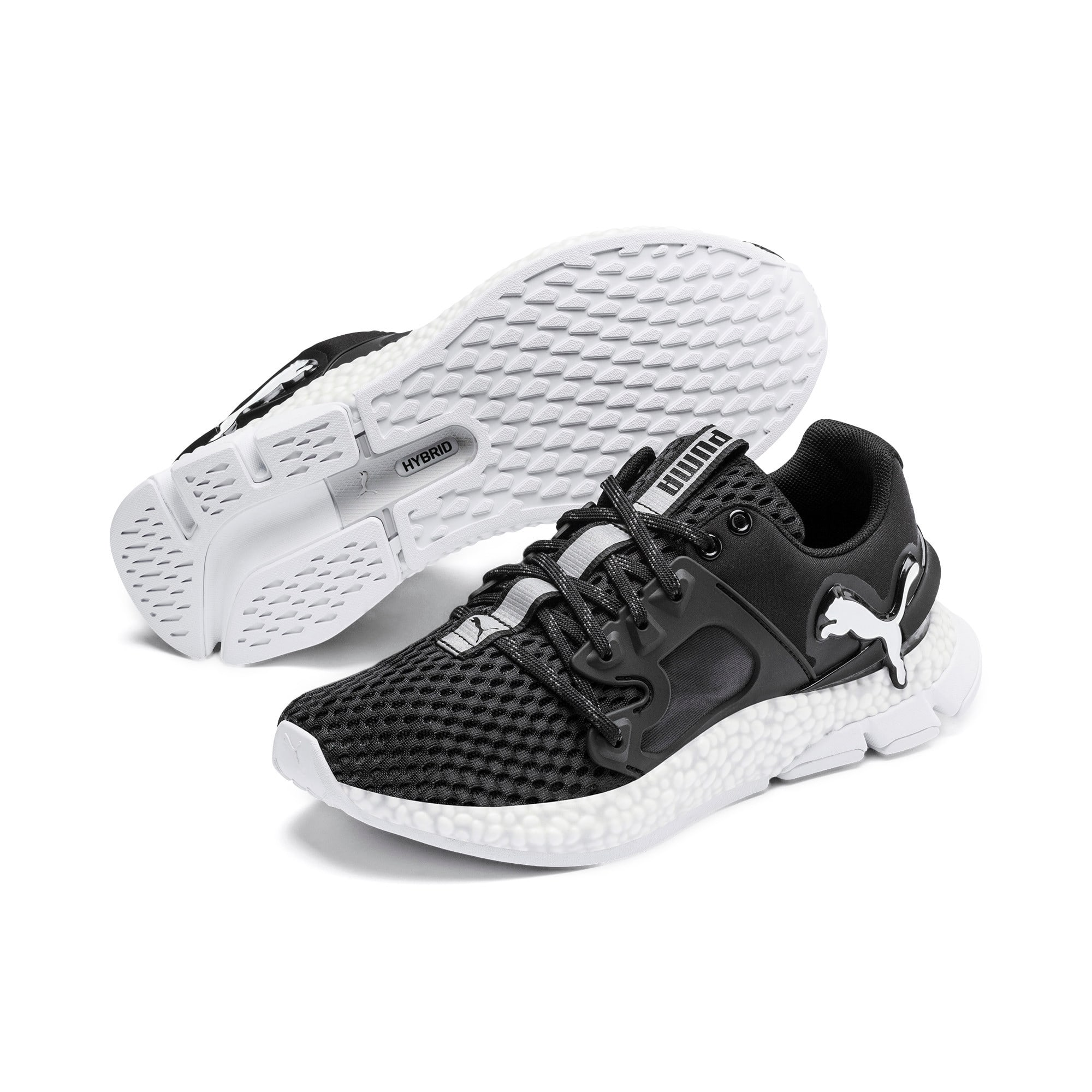 Thumbnail 3 of HYBRID Sky Women's Running Shoes, Puma Black-Puma White, medium