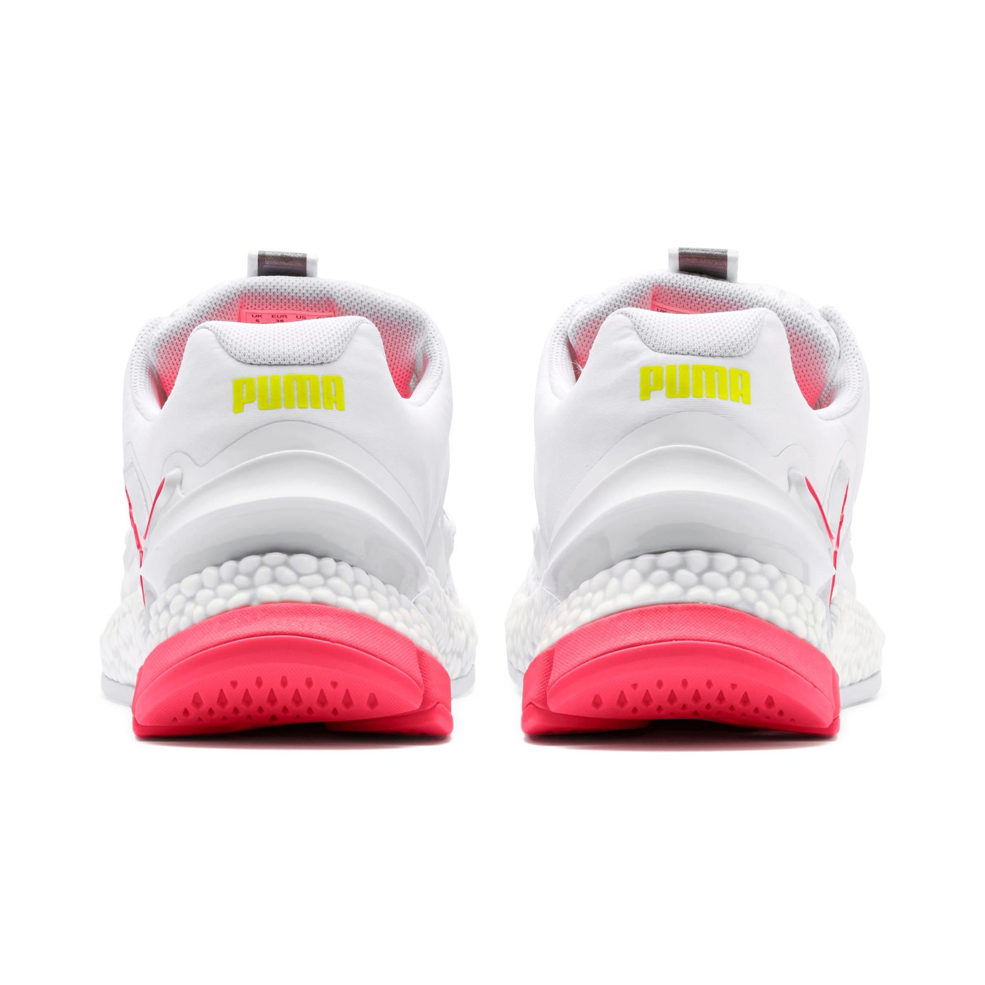 Thumbnail 4 van HYBRID Sky hardloopschoenen voor vrouwen, Wit-Pink Alert-Yellow Alert, medium