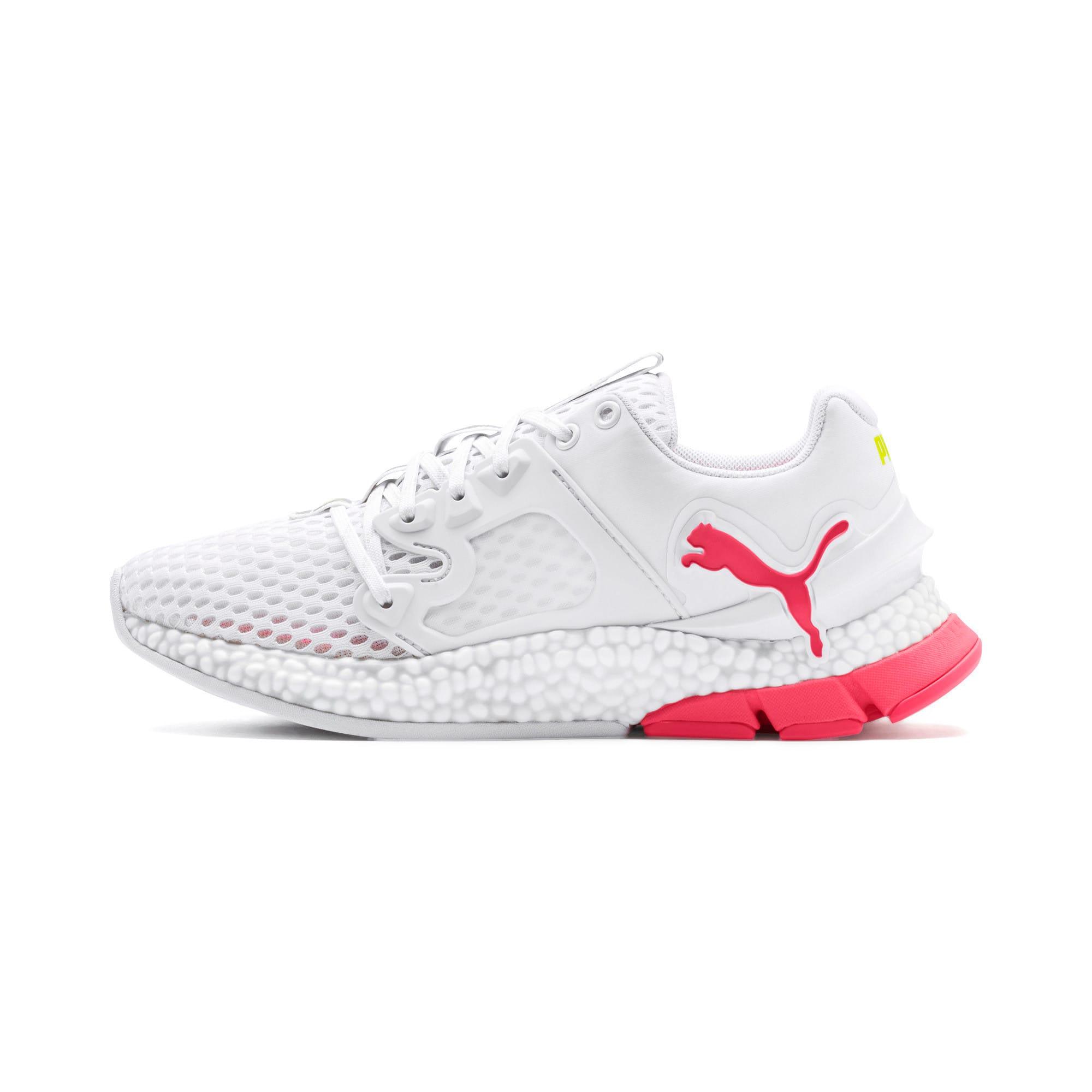 Thumbnail 1 of HYBRID Sky Women's Running Shoes, Wh-Pink Alert-Yellow Alert, medium-IND