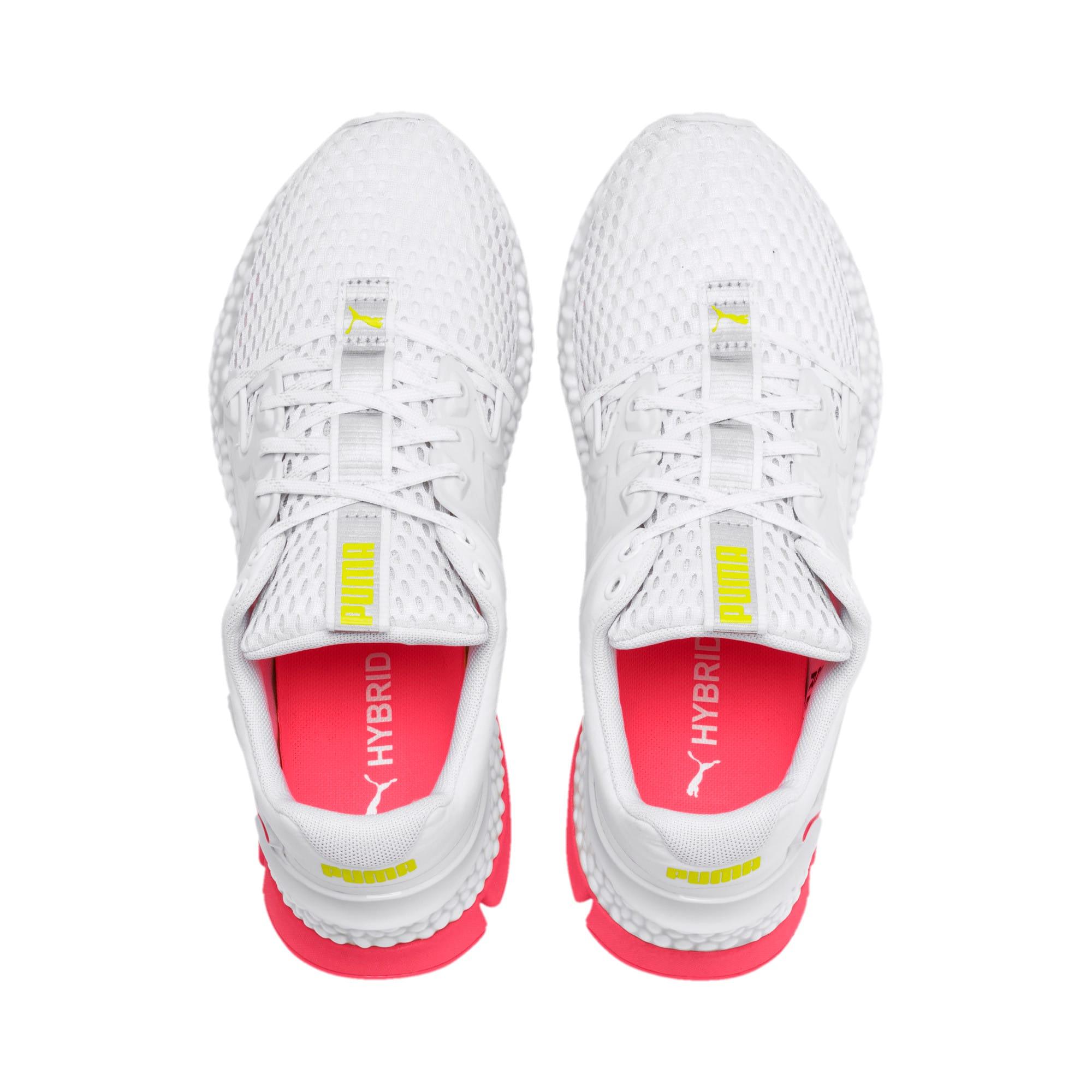 Thumbnail 8 van HYBRID Sky hardloopschoenen voor vrouwen, Wit-Pink Alert-Yellow Alert, medium