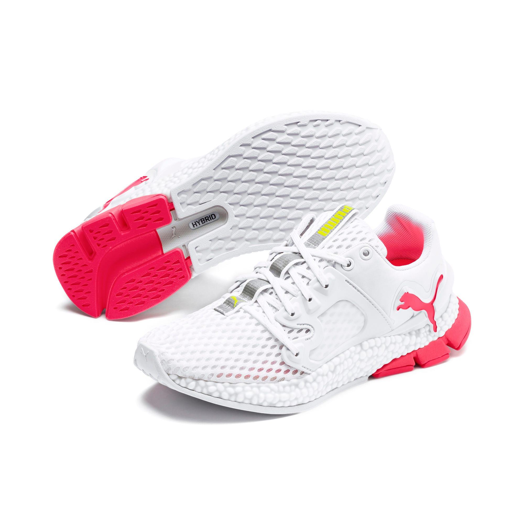 Thumbnail 9 of HYBRID Sky Women's Running Shoes, Wh-Pink Alert-Yellow Alert, medium-IND