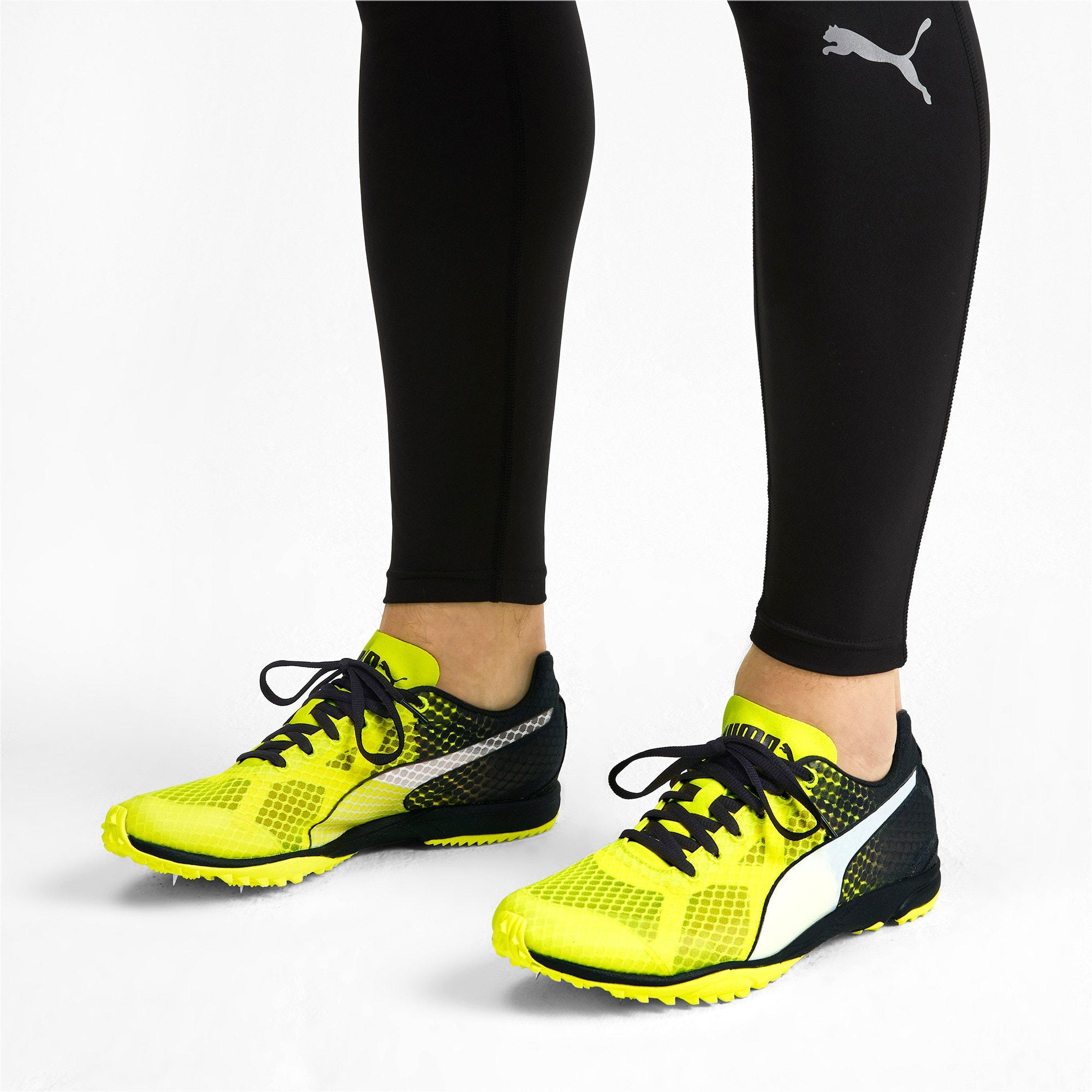 Thumbnail 4 of evoSPEED Haraka 6 Track and Field Boots, Yellow Alert-Black-White, medium-IND