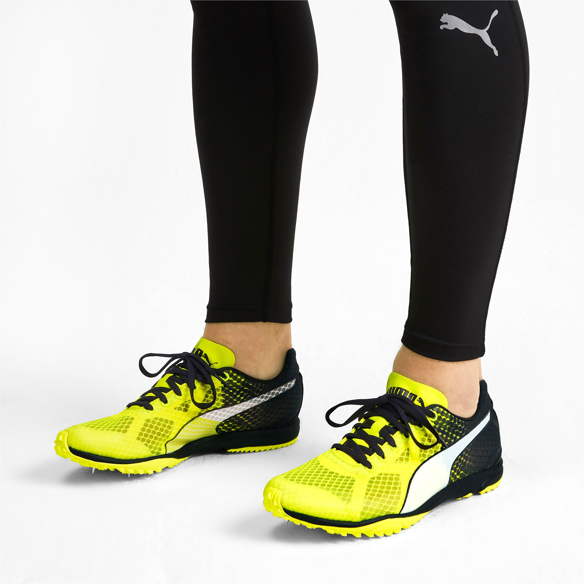 Thumbnail 3 of evoSPEED Haraka 6 Track and Field Boots, Yellow Alert-Black-White, medium-IND