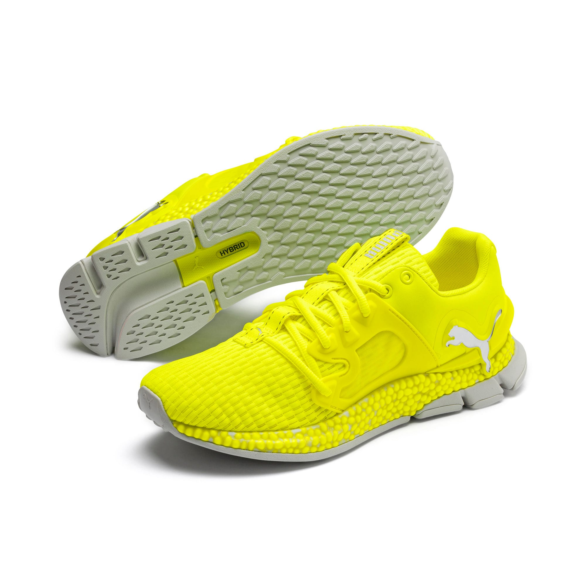 HYBRID Sky Lights Men's Running Shoes, Yellow Alert-Puma Silver, large