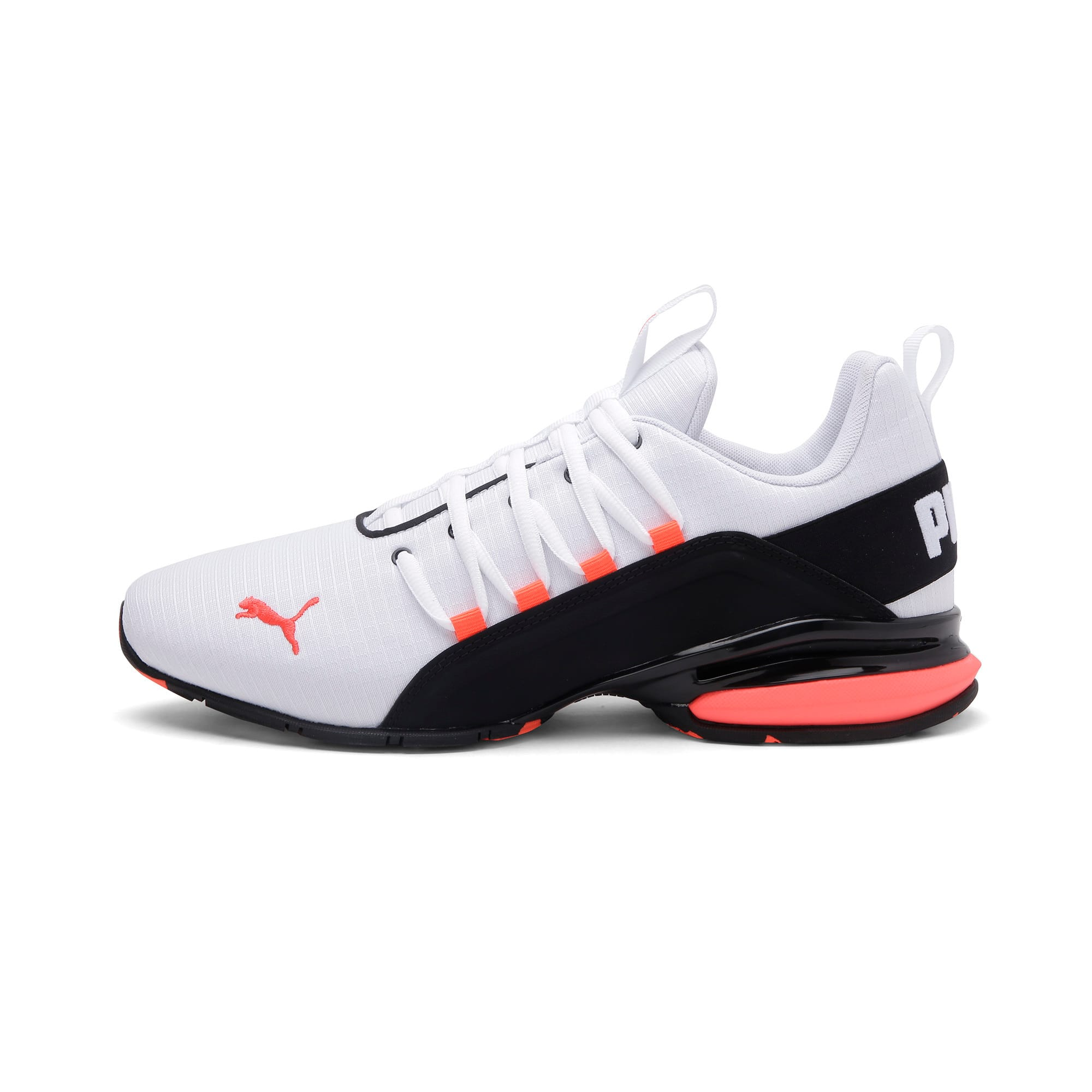 Thumbnail 1 of Axelion Rip Men's Running Shoes, White-Black-Nrgy Red, medium-IND